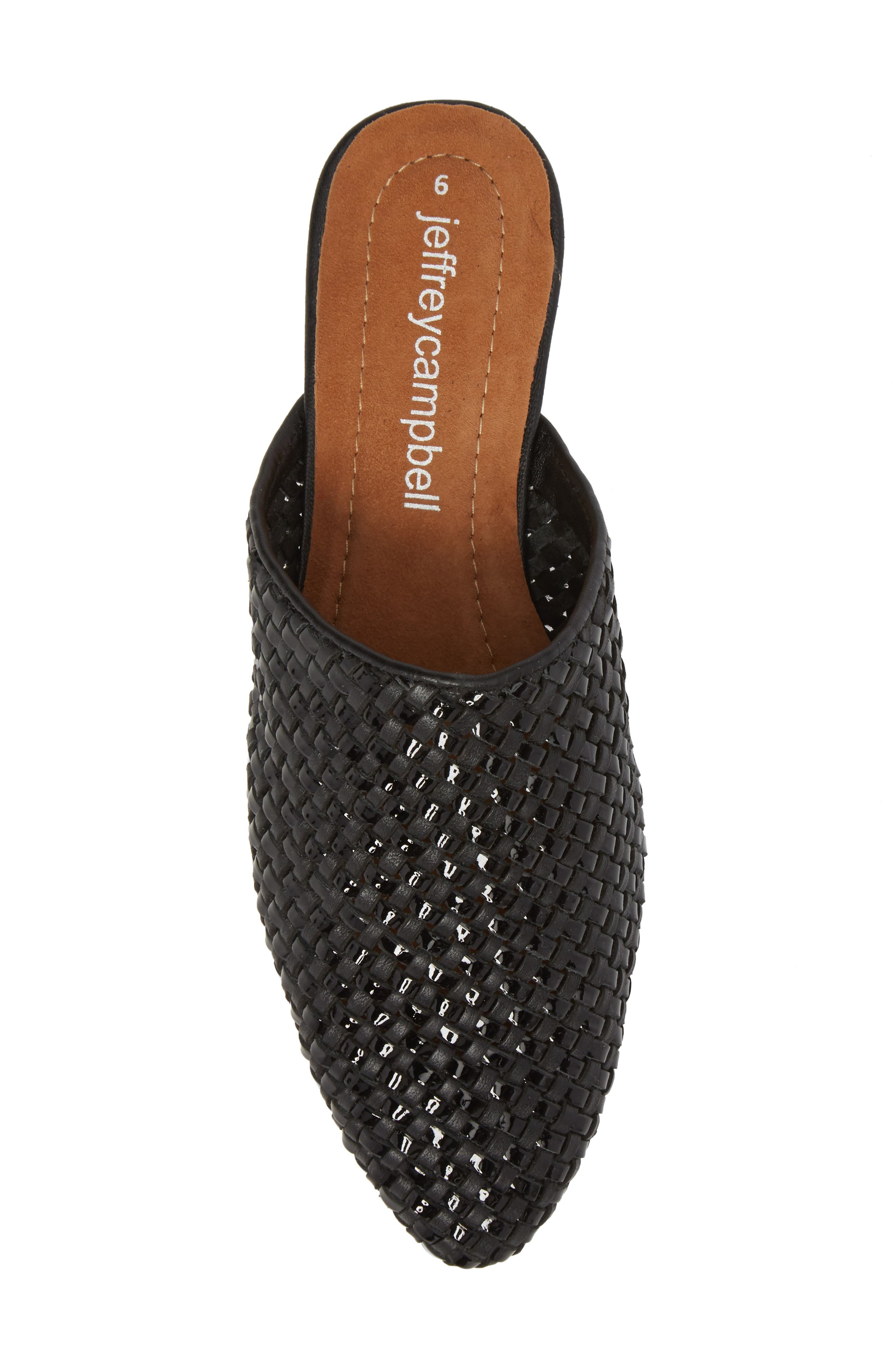 Dashi Woven Mule,                             Alternate thumbnail 5, color,                             BLACK PATENT