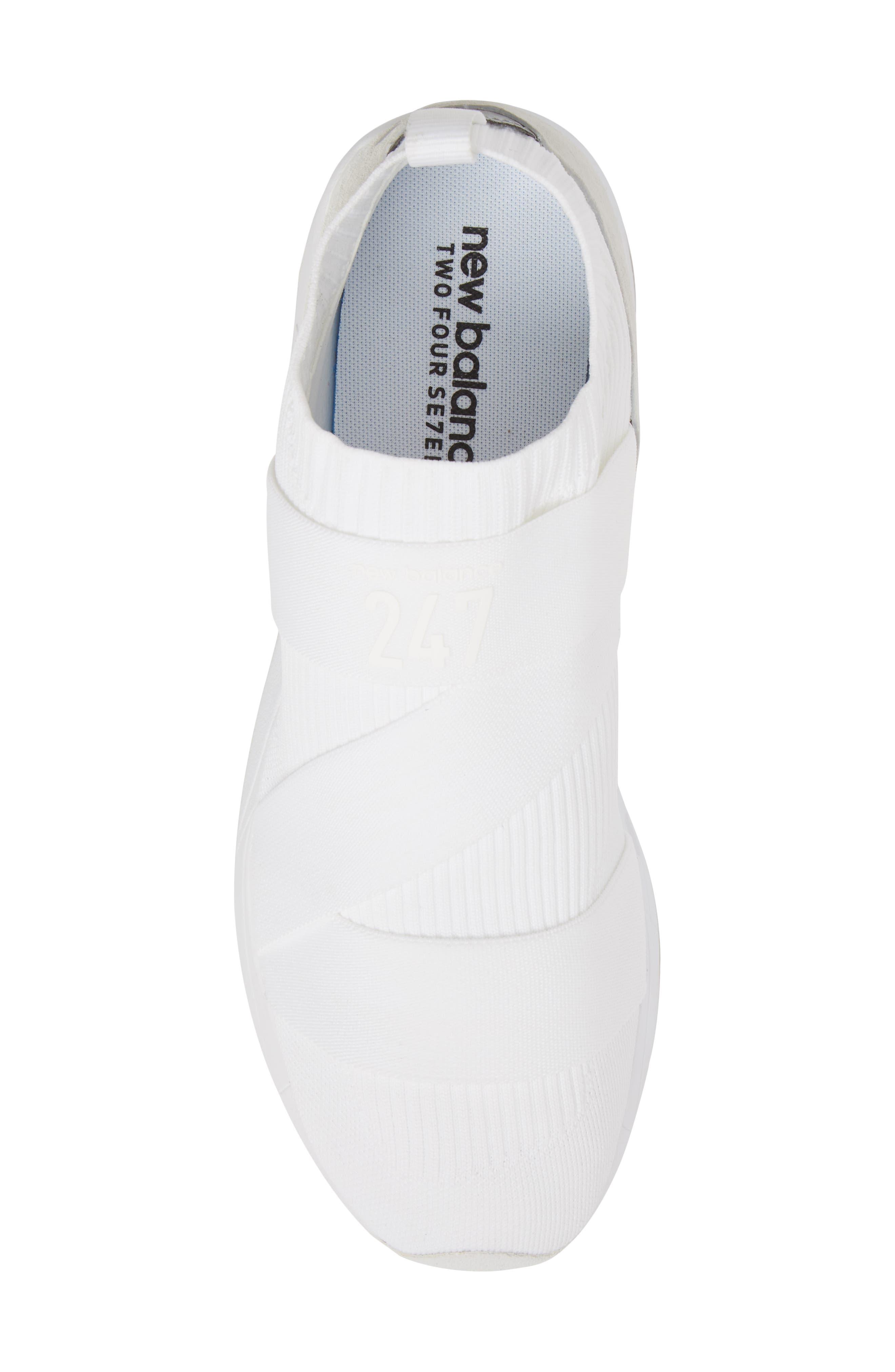 247 Knit Sneaker,                             Alternate thumbnail 5, color,                             WHITE