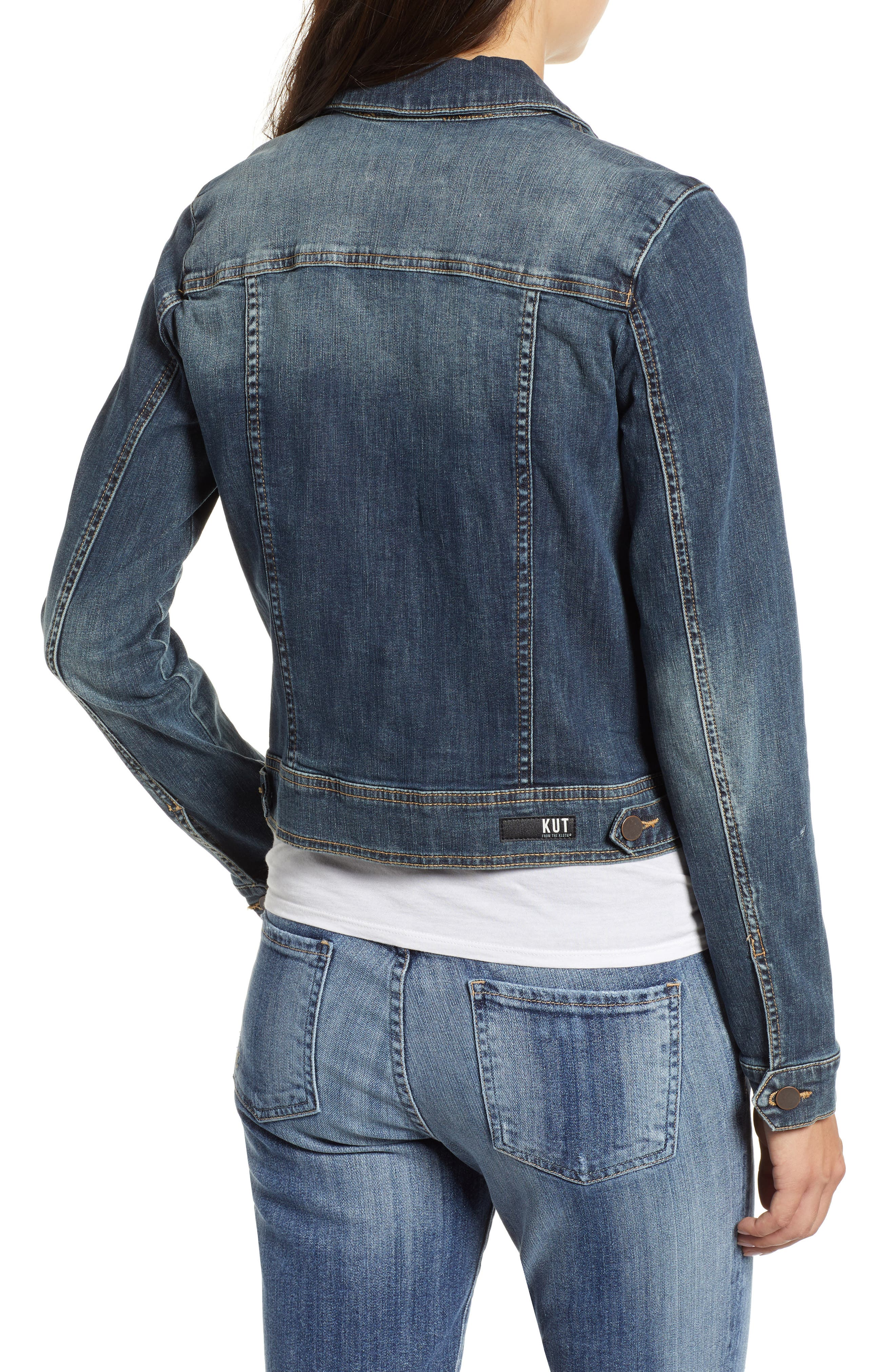 Helena Denim Jacket,                             Alternate thumbnail 2, color,                             477