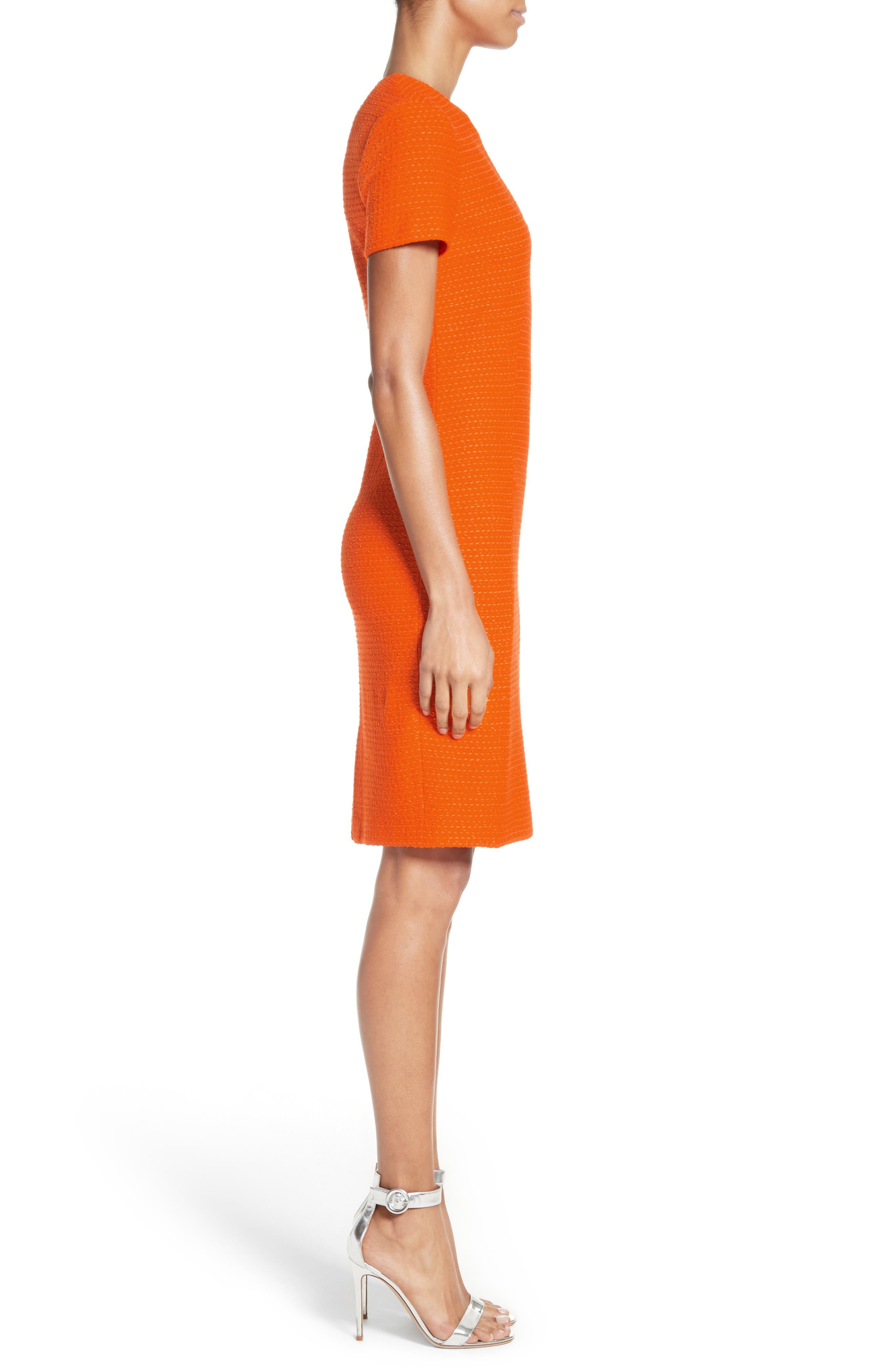 Ribbon Texture Knit Dress,                             Alternate thumbnail 3, color,                             820