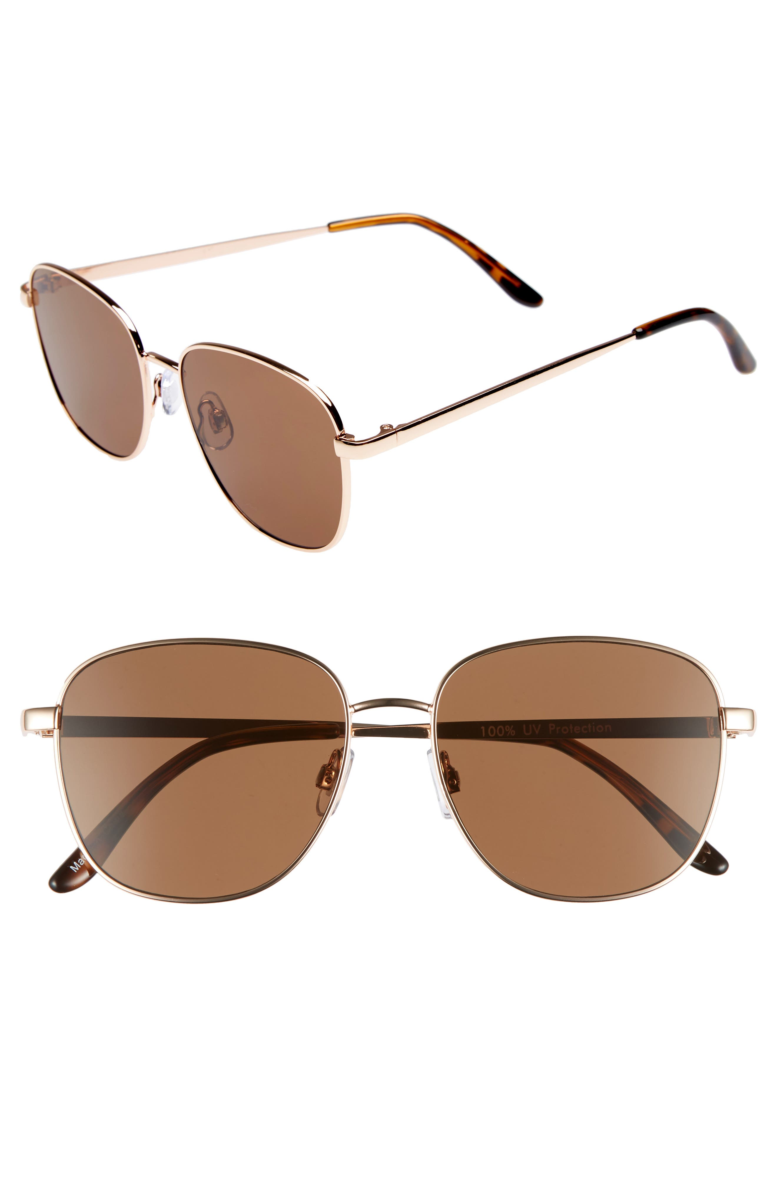 53mm Square Sunglasses,                             Main thumbnail 1, color,                             710
