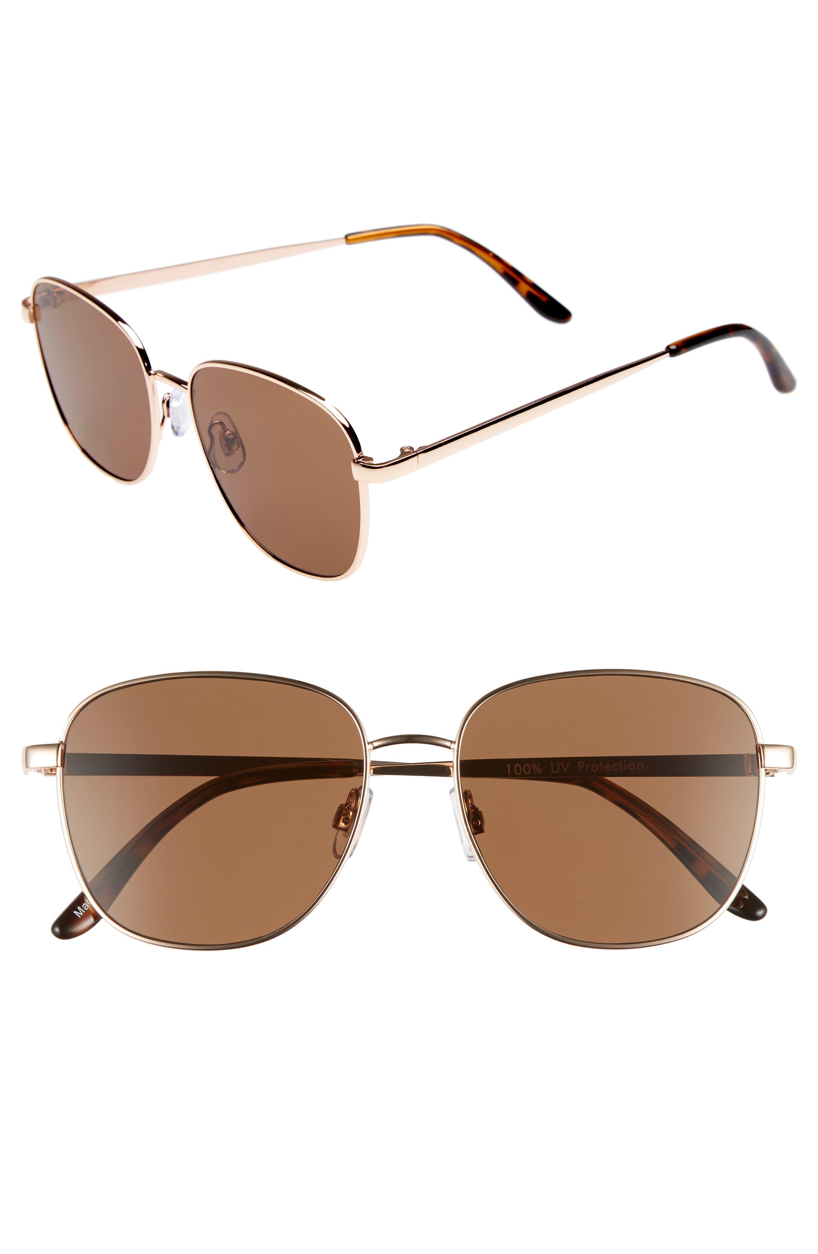 53mm Square Sunglasses,                         Main,                         color, 710