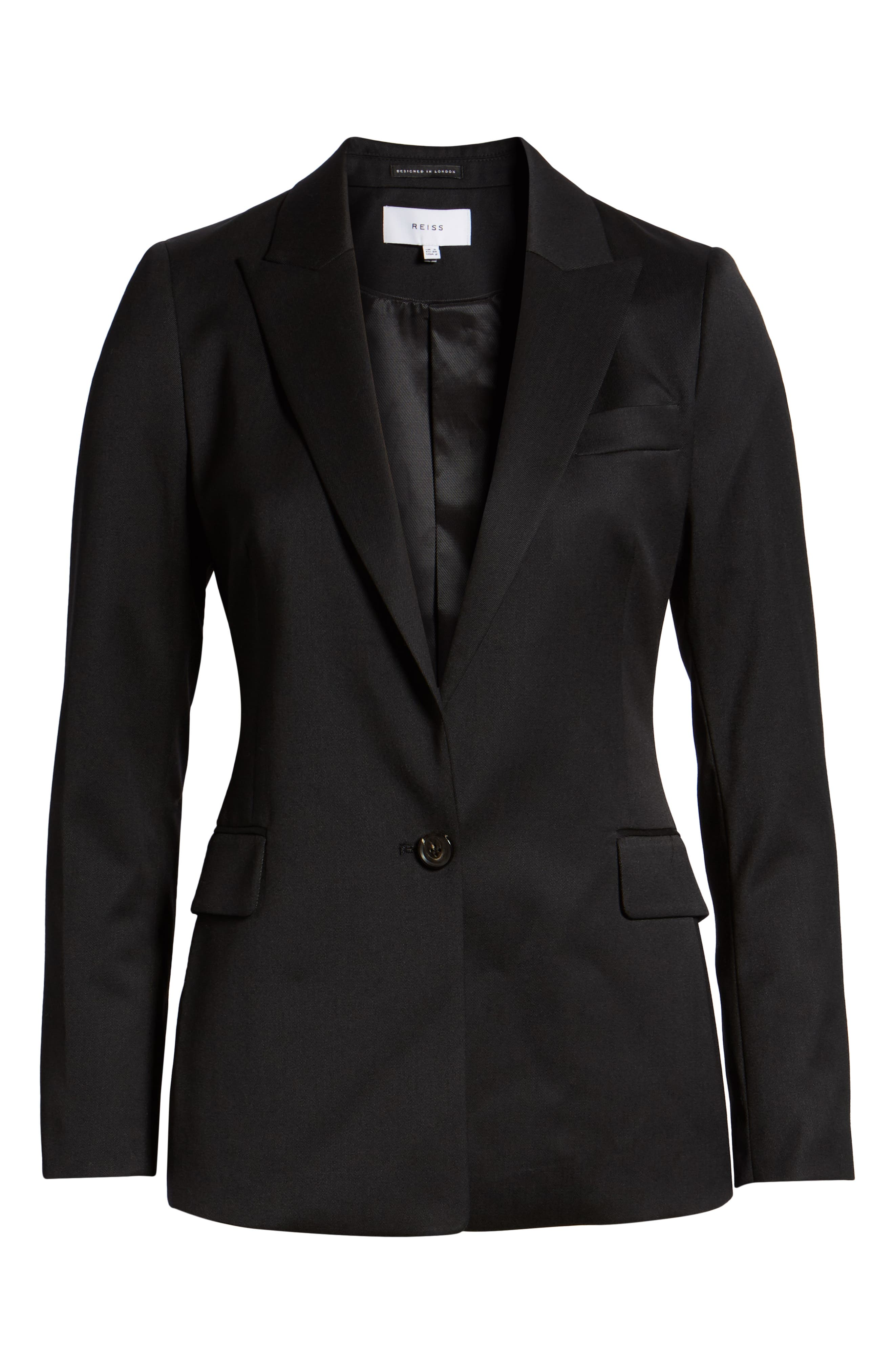 Harper Slim Fit Jacket,                             Alternate thumbnail 3, color,                             BLACK
