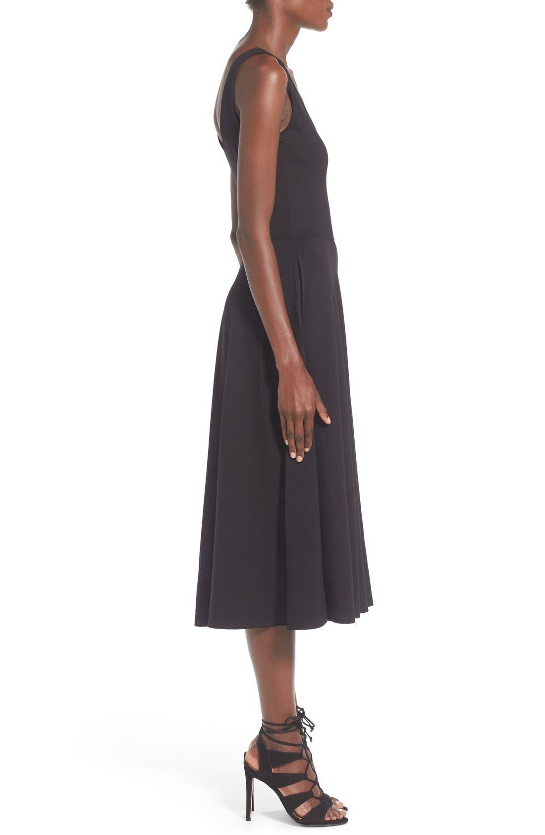 Stretch Knit Midi Dress,                             Alternate thumbnail 16, color,