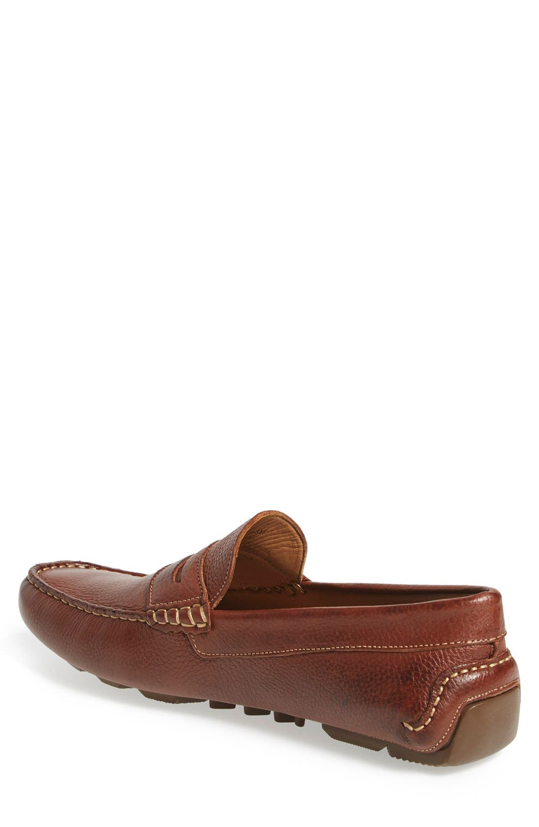 'Bermuda' Penny Loafer,                             Alternate thumbnail 2, color,                             TAN LEATHER