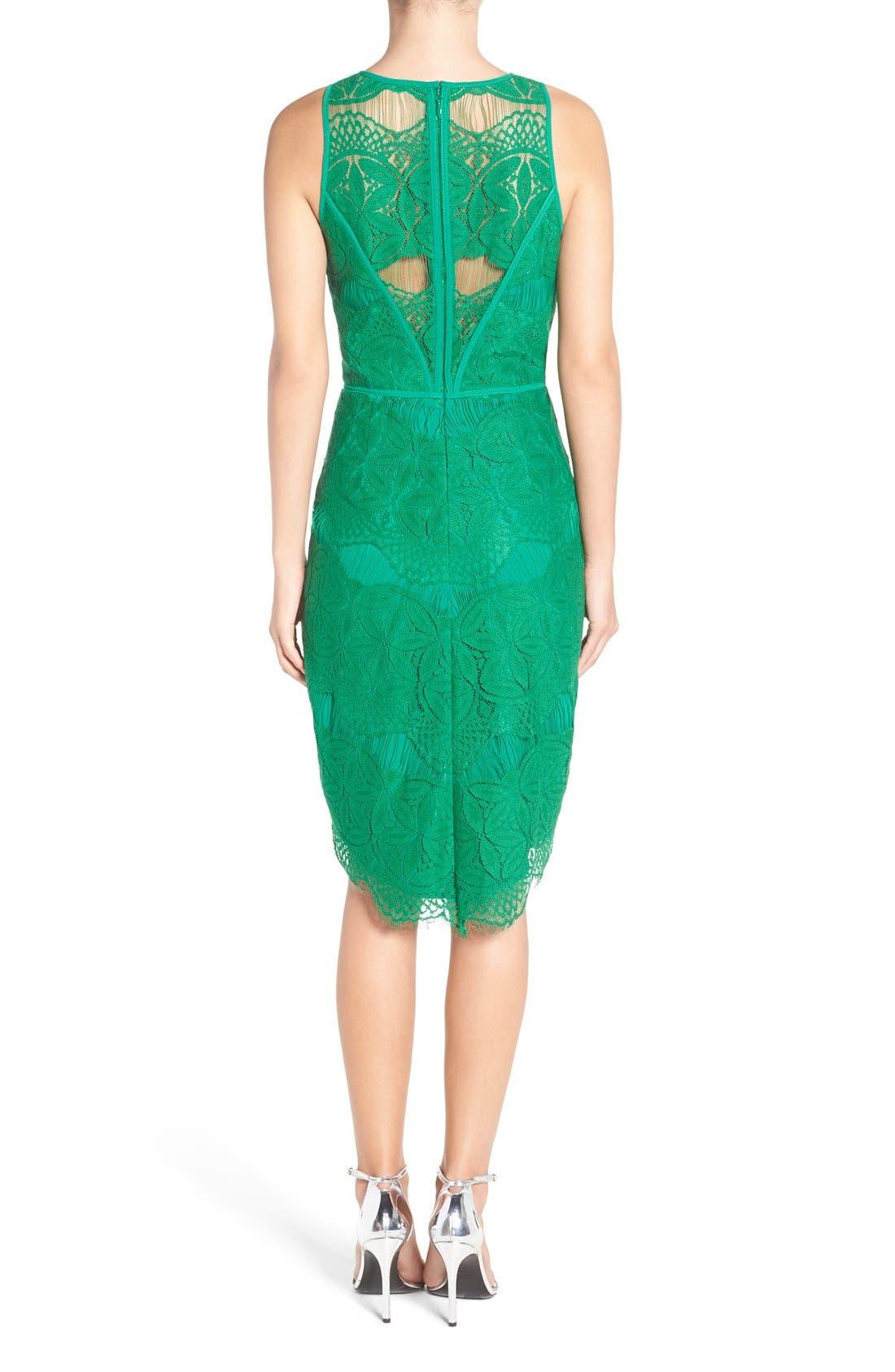 Lace High/Low Sheath Dress,                             Alternate thumbnail 37, color,