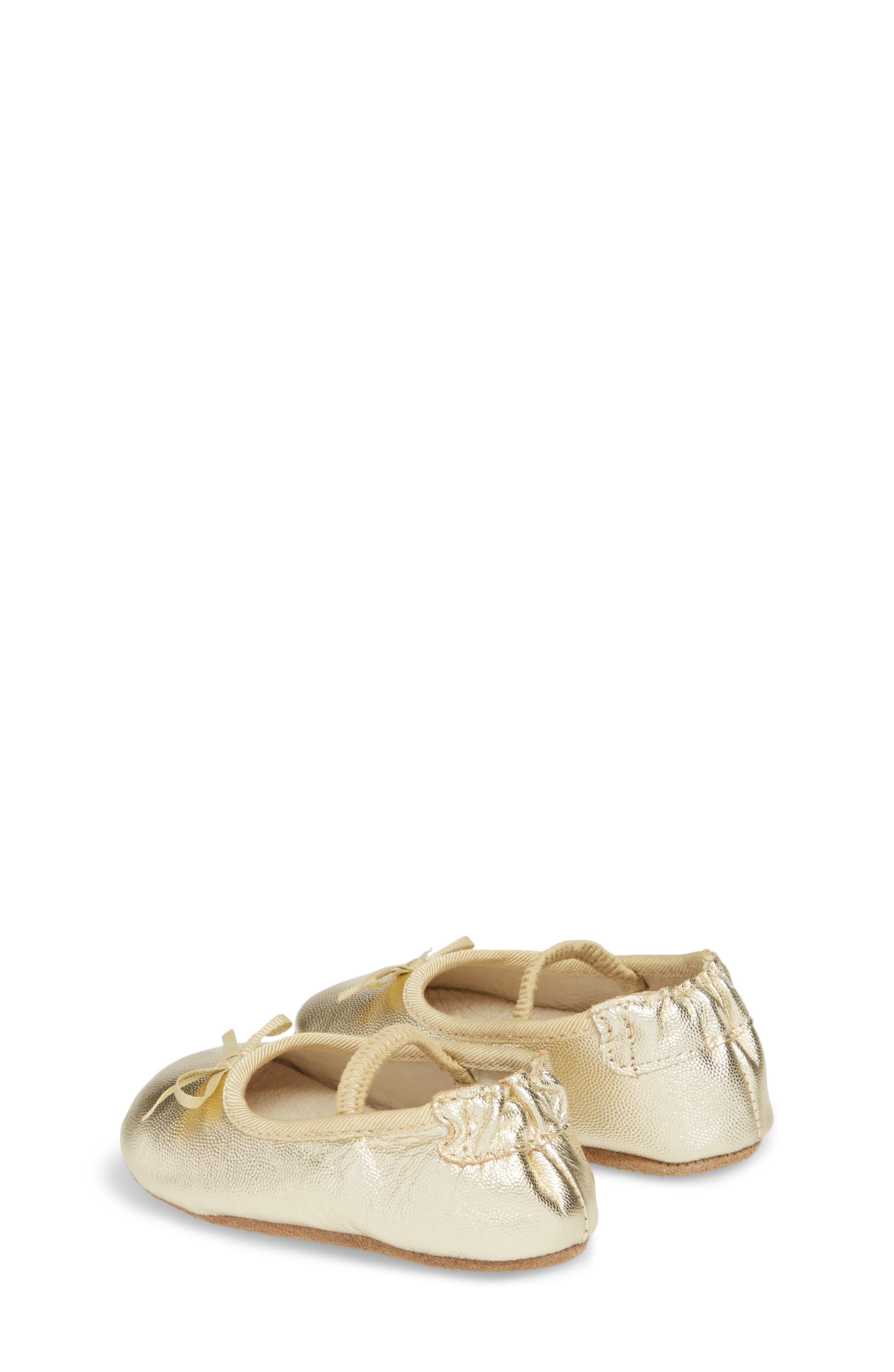 Athena Ballet Strap Crib Shoe,                             Alternate thumbnail 2, color,                             GOLD