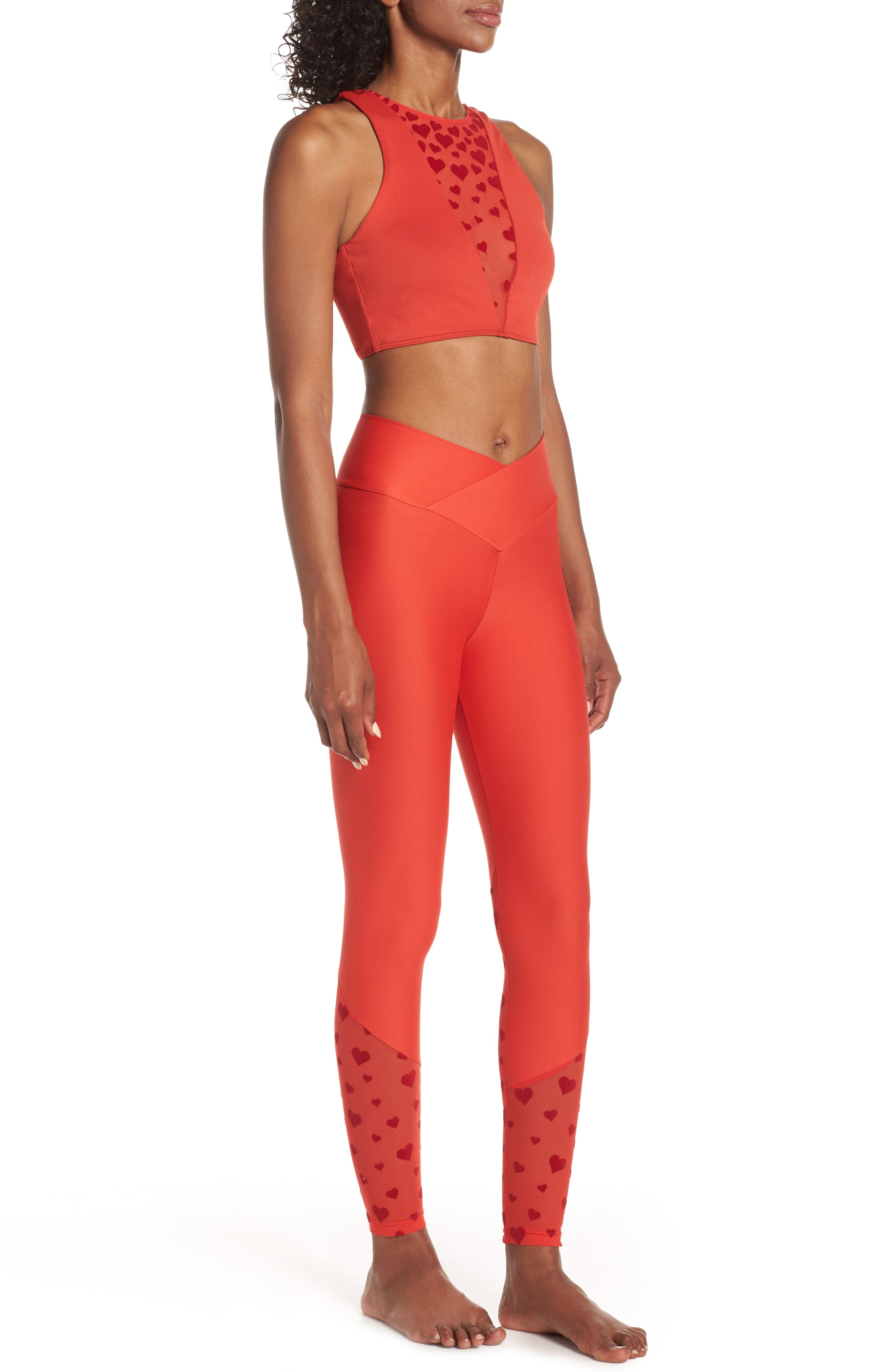 BEACH RIOT,                             Beach Leggings,                             Alternate thumbnail 10, color,                             RED HEART