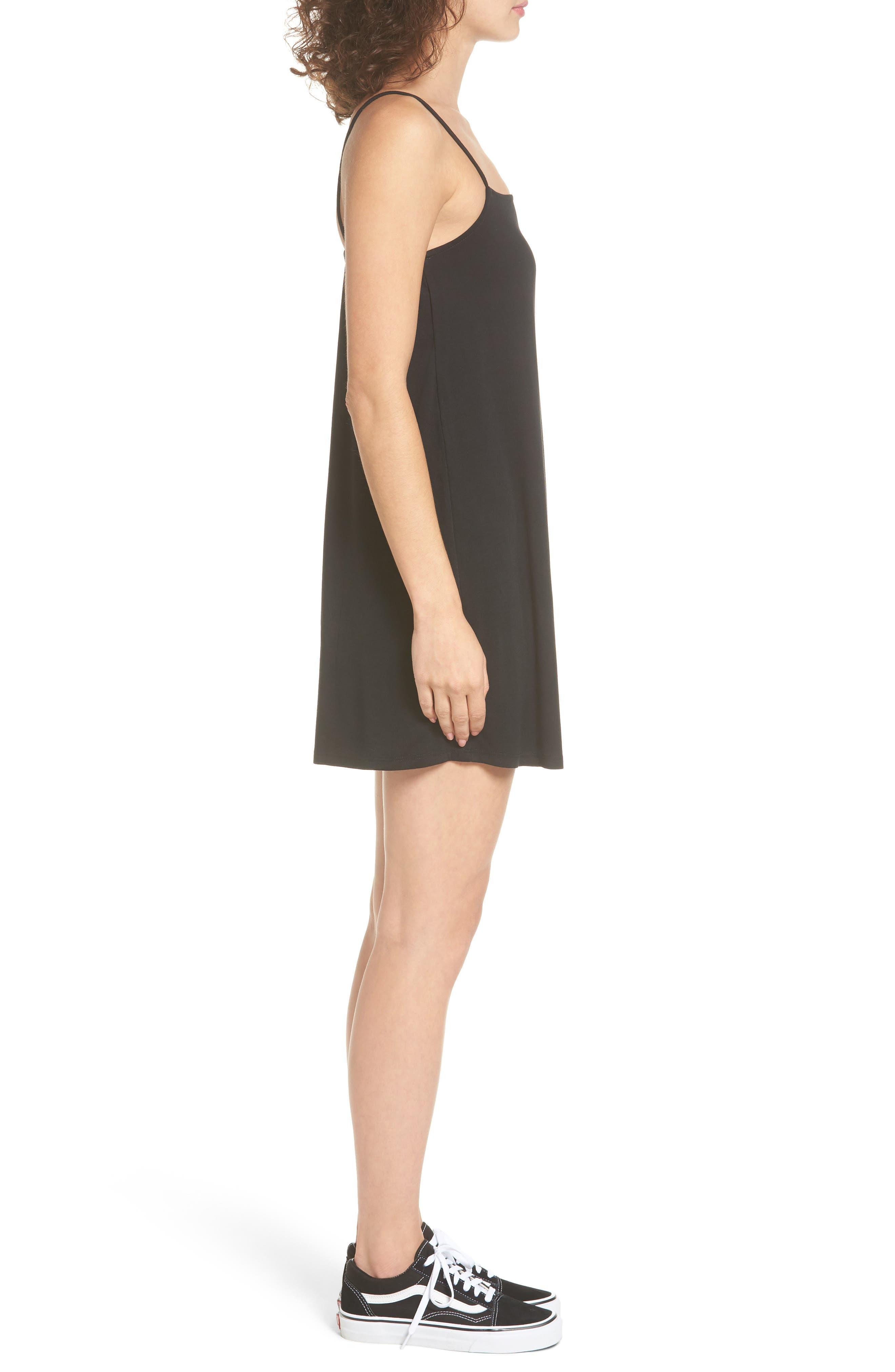 Rachel Camisole Dress,                             Alternate thumbnail 3, color,                             001