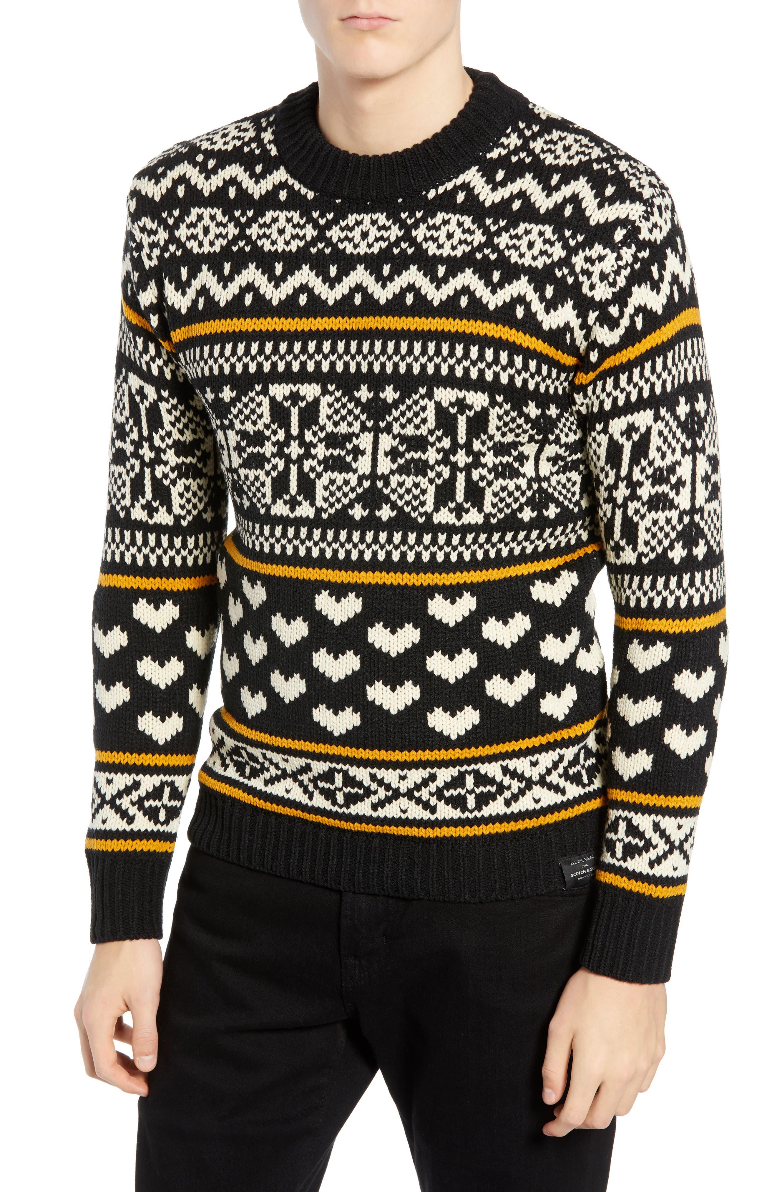 Chunky Fair Isle Sweater,                         Main,                         color, COMBO B