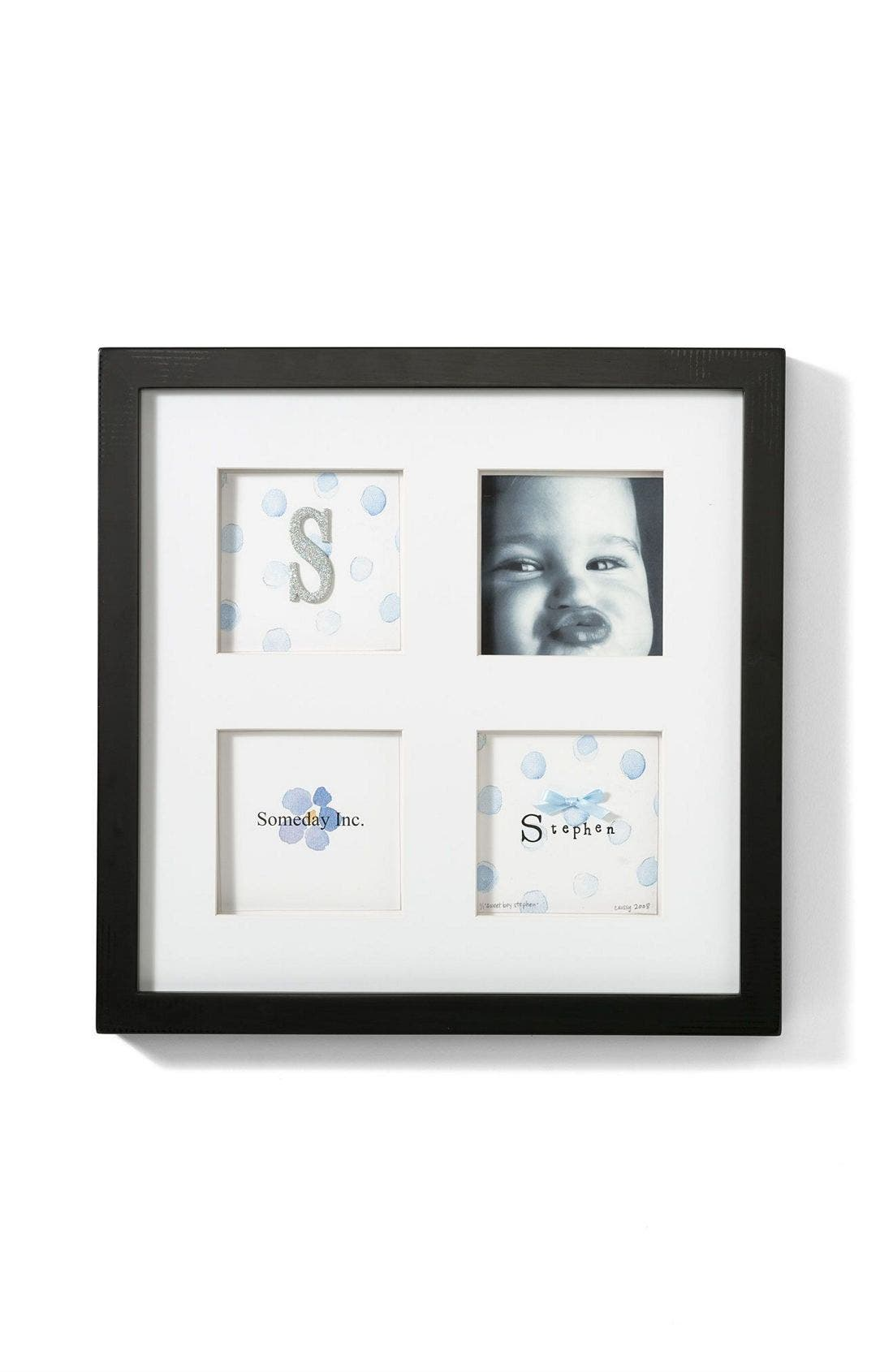 Personalized Four Slot Shadow Box Frame, Main, color, 400