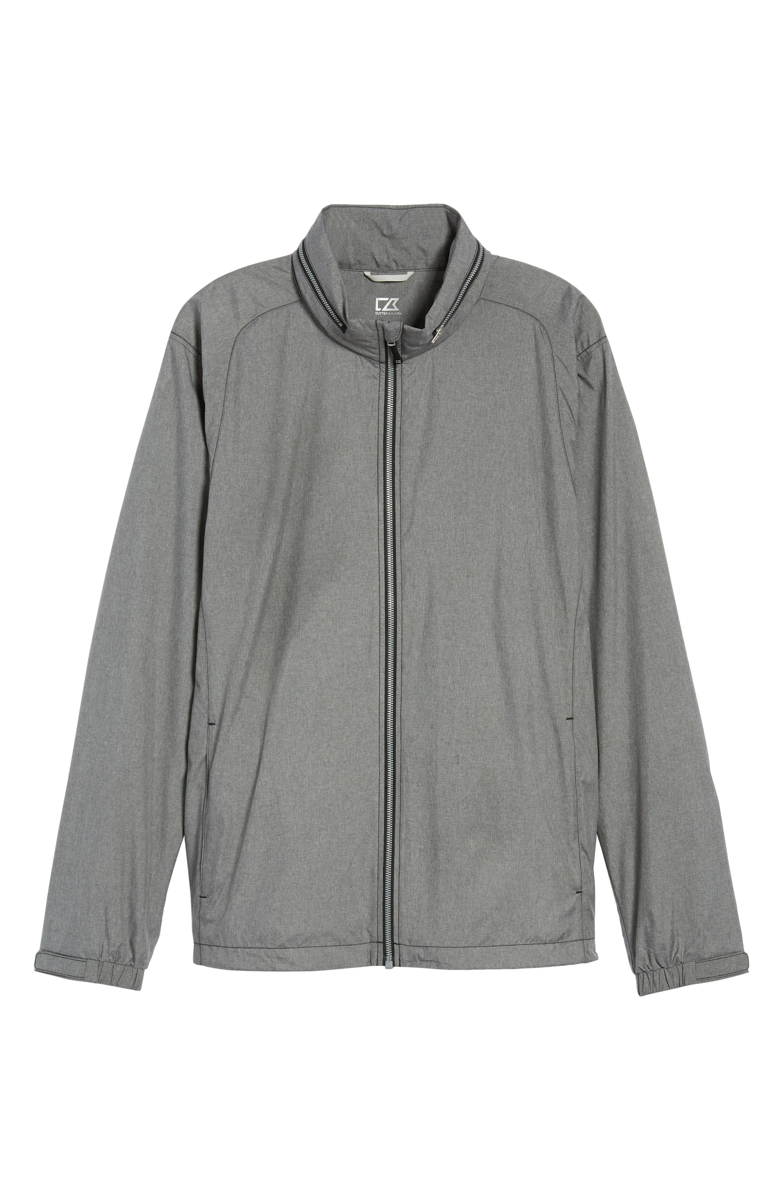 Panoramic Packable Jacket,                             Alternate thumbnail 5, color,                             BLACK