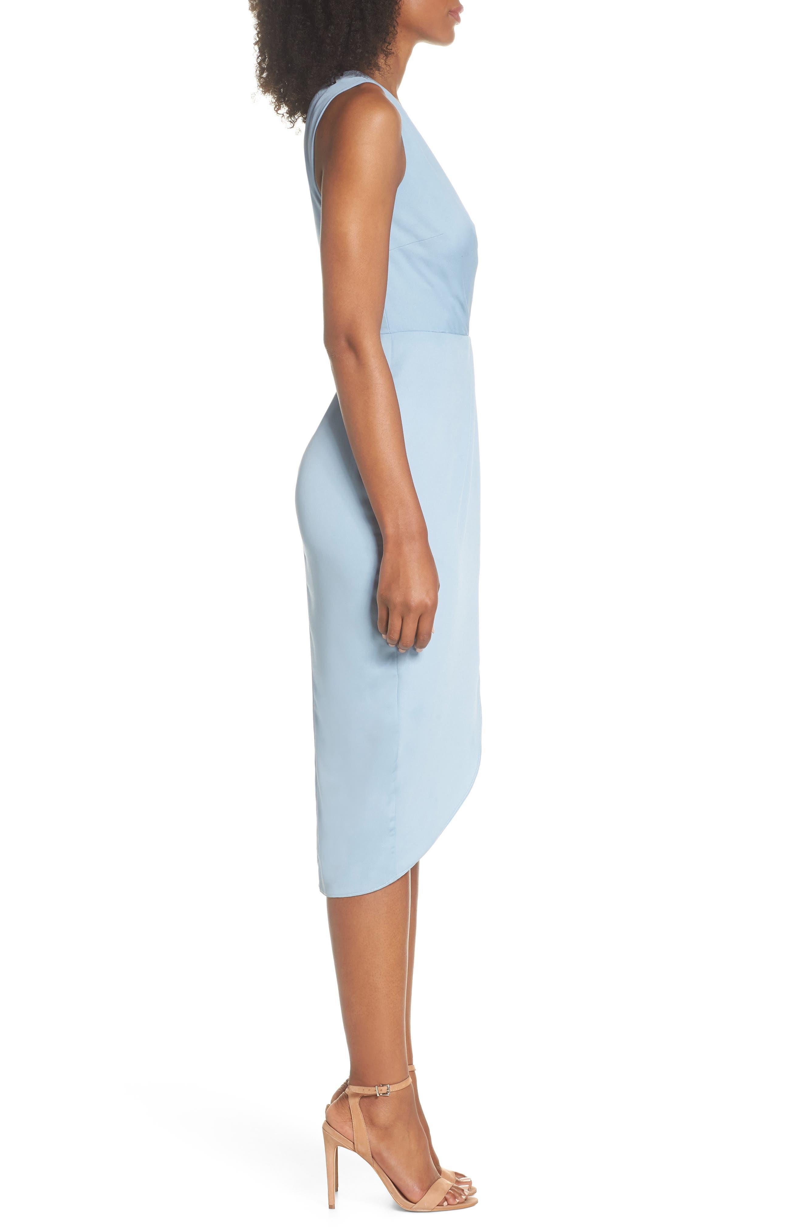 Florence Drape Sheath Dress,                             Alternate thumbnail 3, color,