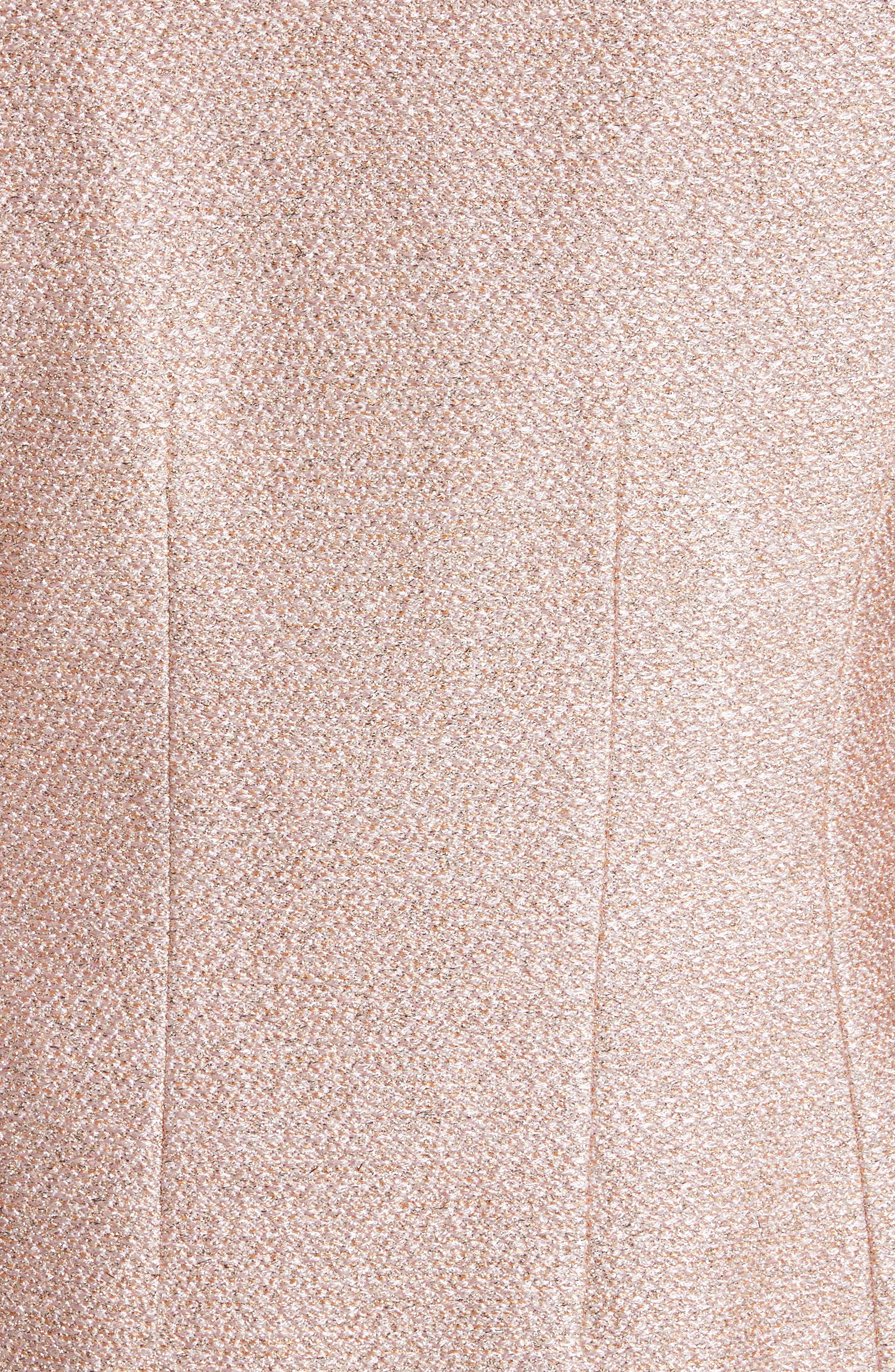 Double Breasted Frosted Metallic Knit Jacket,                             Alternate thumbnail 6, color,                             660