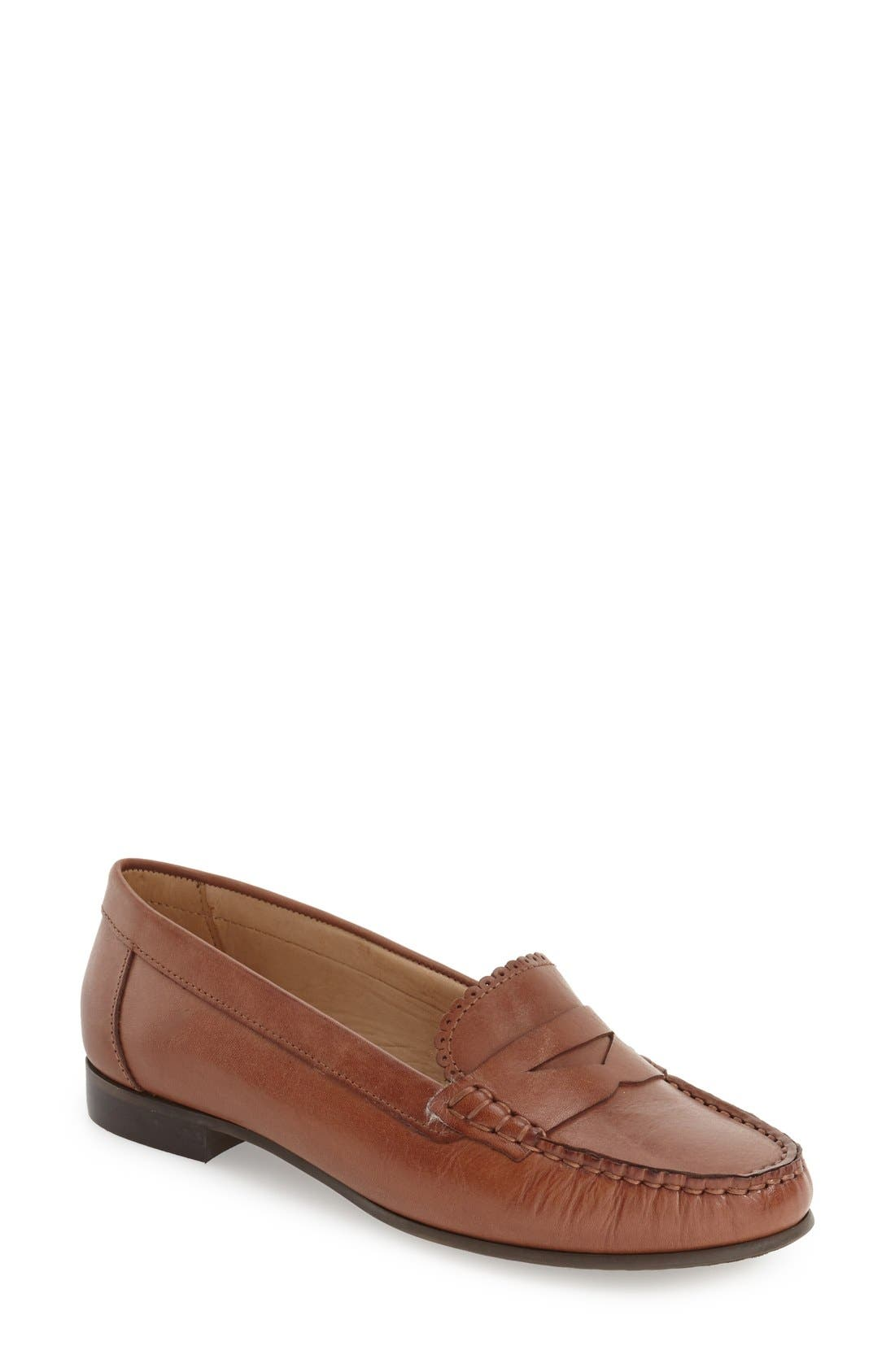 'Quinn' Leather Loafer,                             Main thumbnail 4, color,
