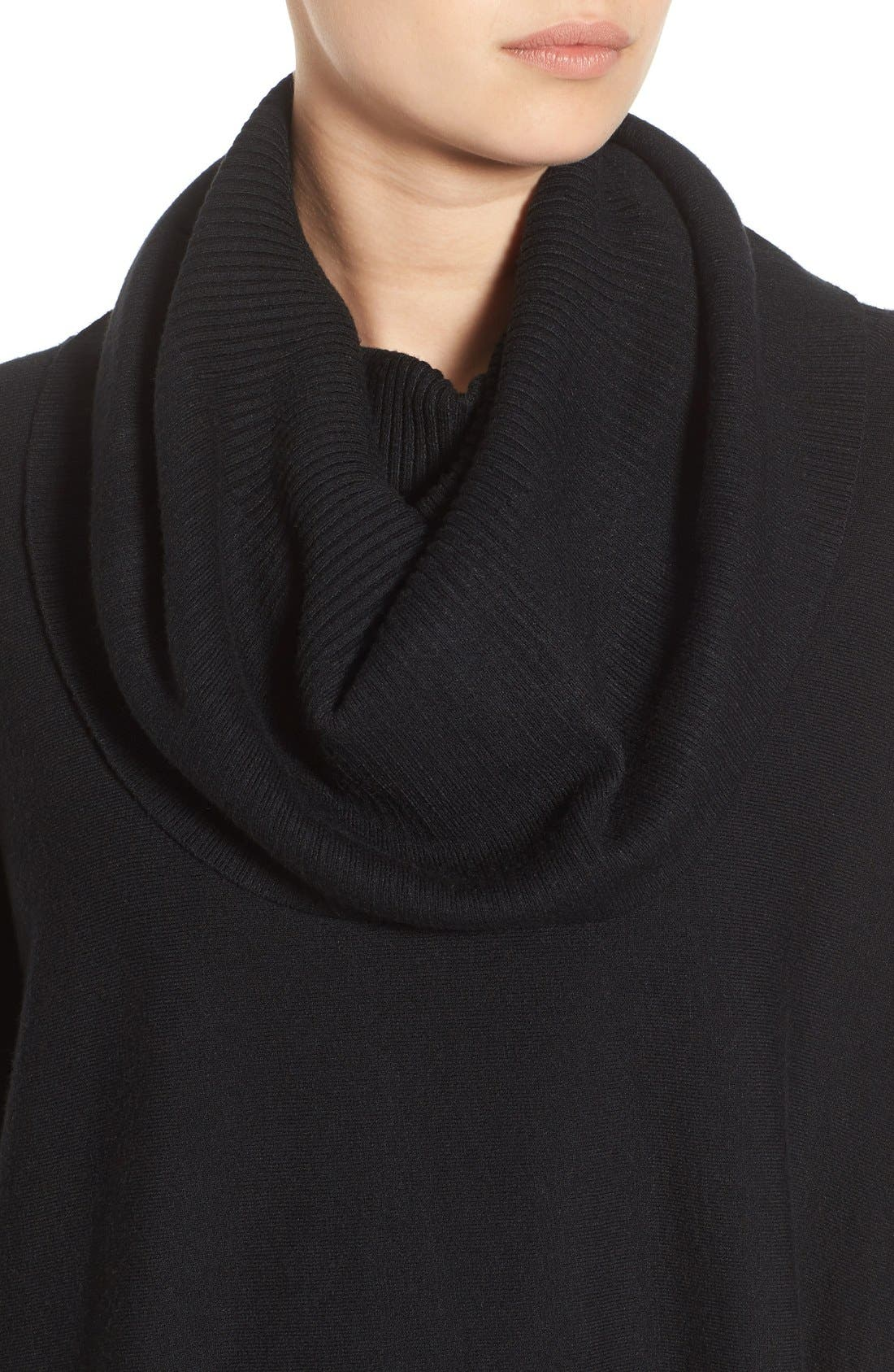 Cowl Neck Boxy Pullover,                             Alternate thumbnail 5, color,                             001