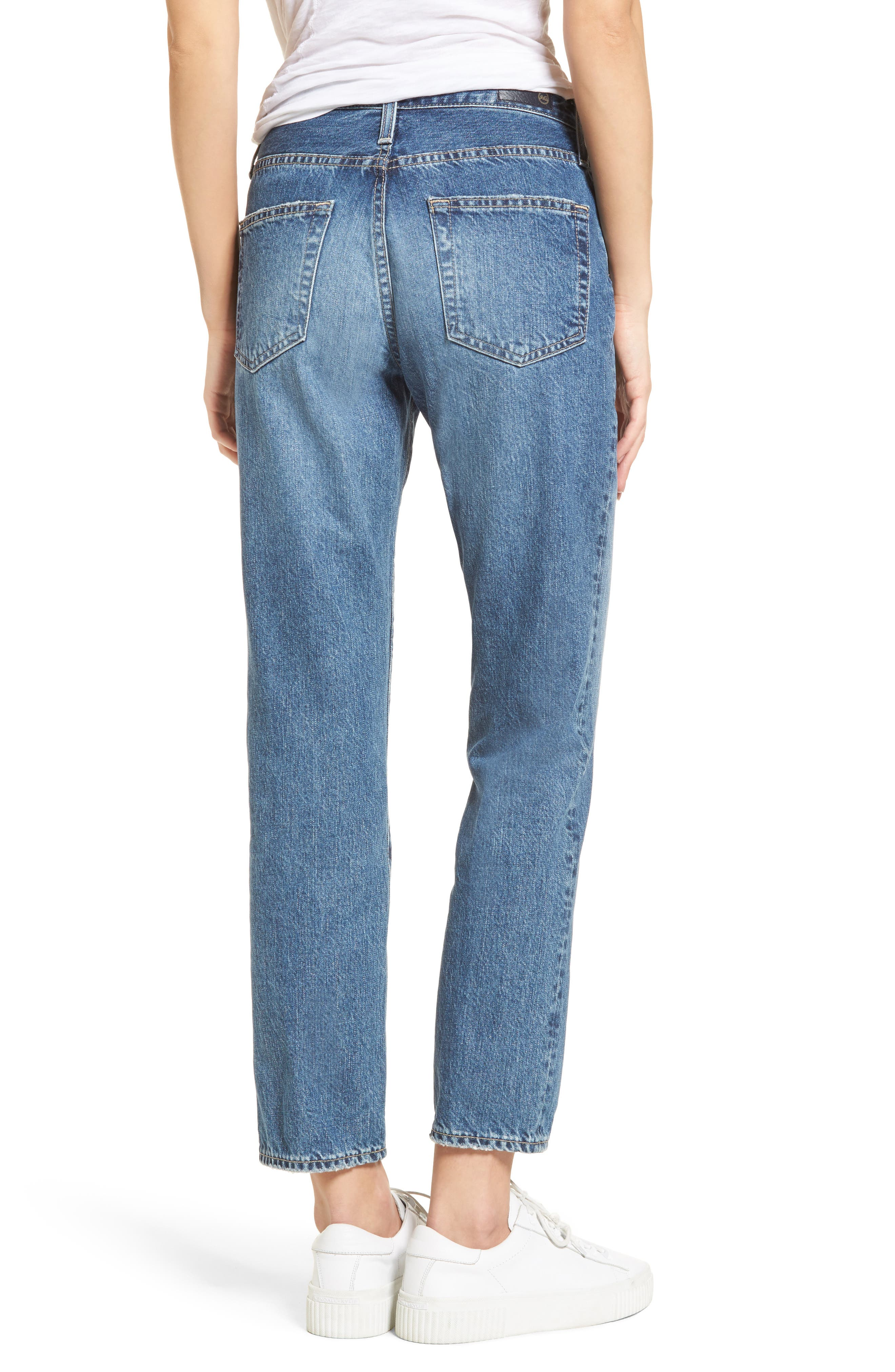 Isabelle High Waist Straight Leg Crop Jeans,                             Alternate thumbnail 2, color,                             436