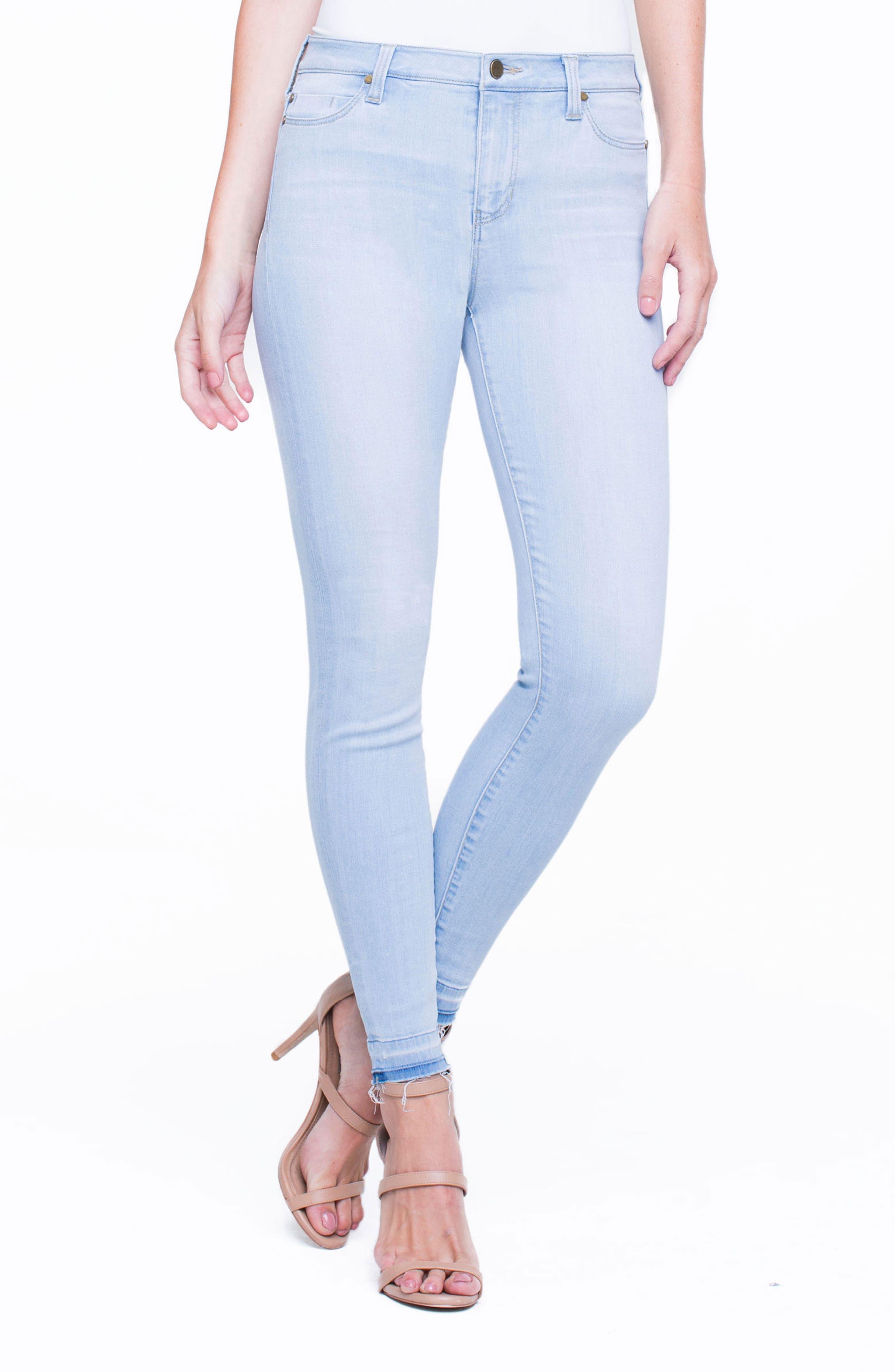 Parker Release Hem Ankle Skinny Jeans,                             Alternate thumbnail 4, color,