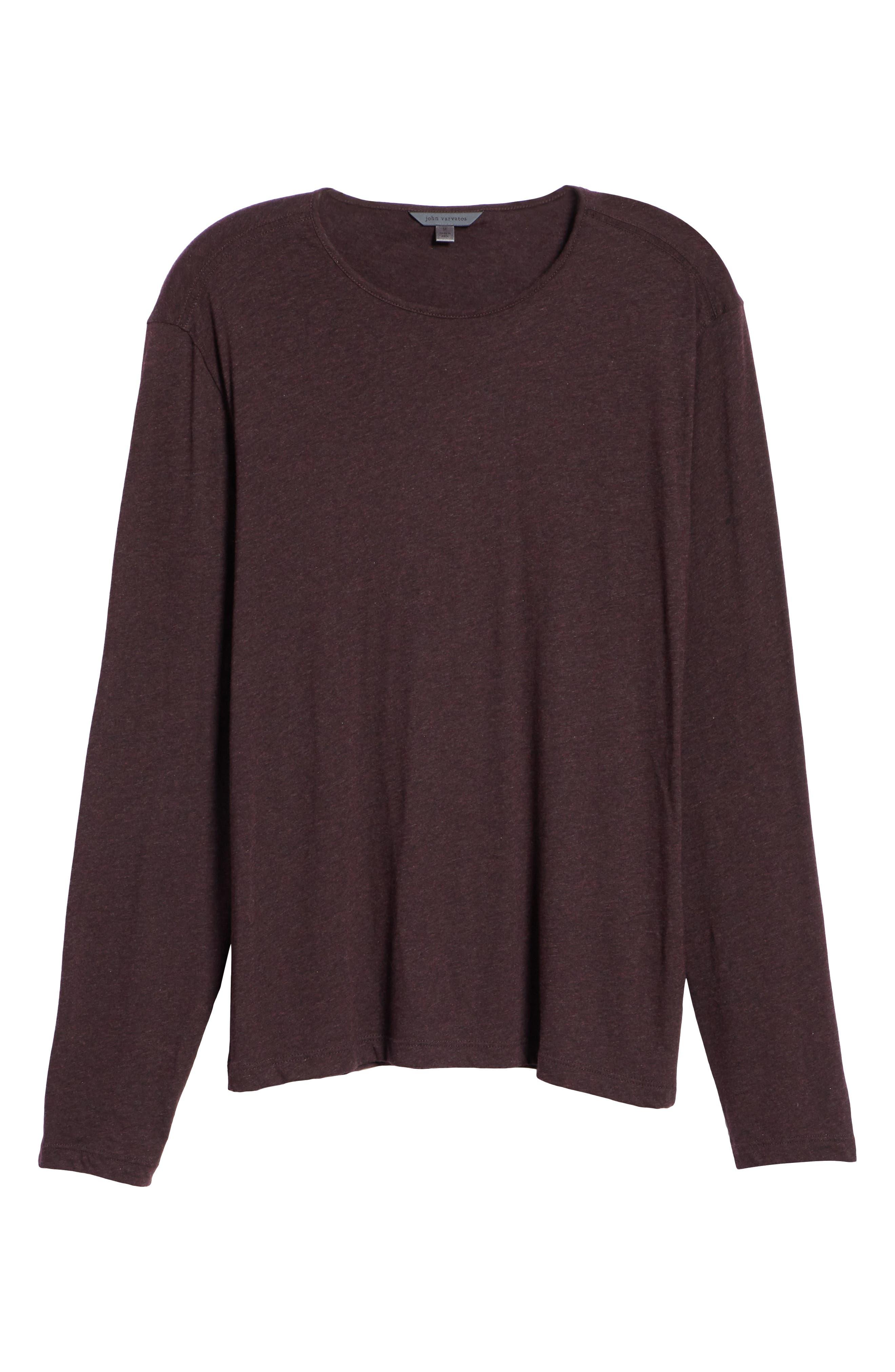 Long Sleeve T-Shirt,                             Alternate thumbnail 6, color,                             PORT