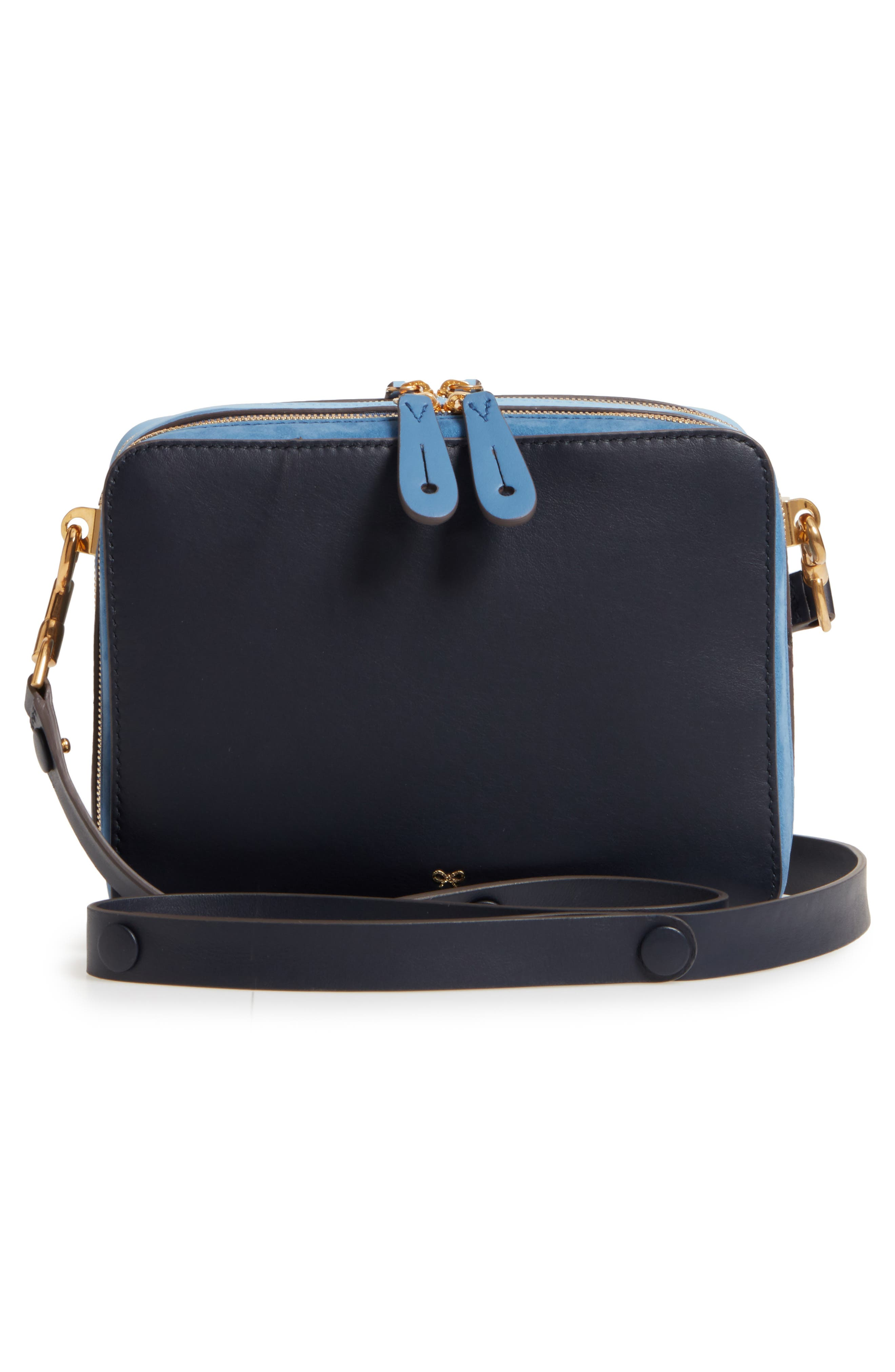 The Stack Leather Crossbody Bag,                             Alternate thumbnail 5, color,