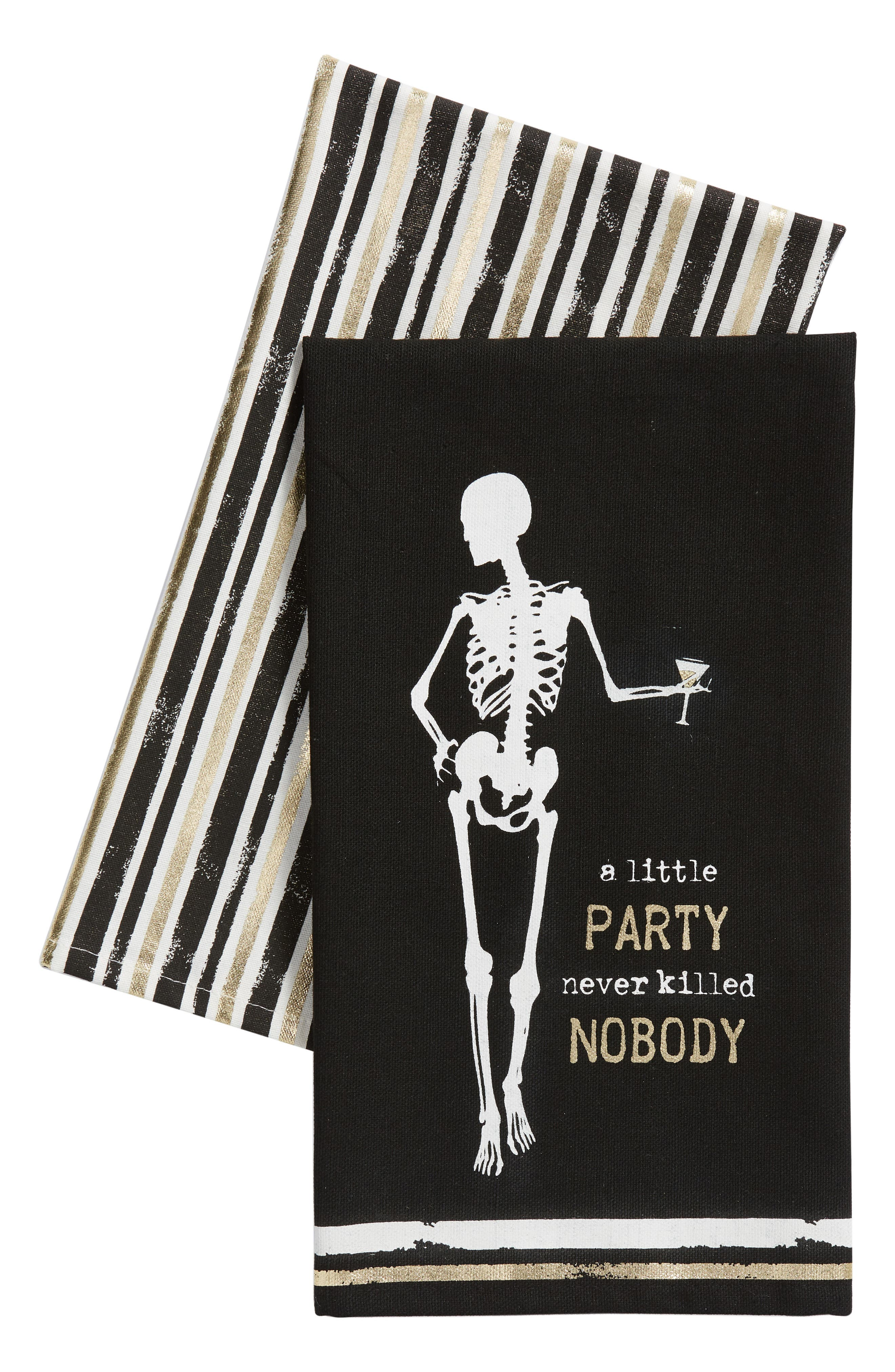 A Little Party Never Killed Nobody Set of 2 Dishtowels,                             Main thumbnail 1, color,                             001