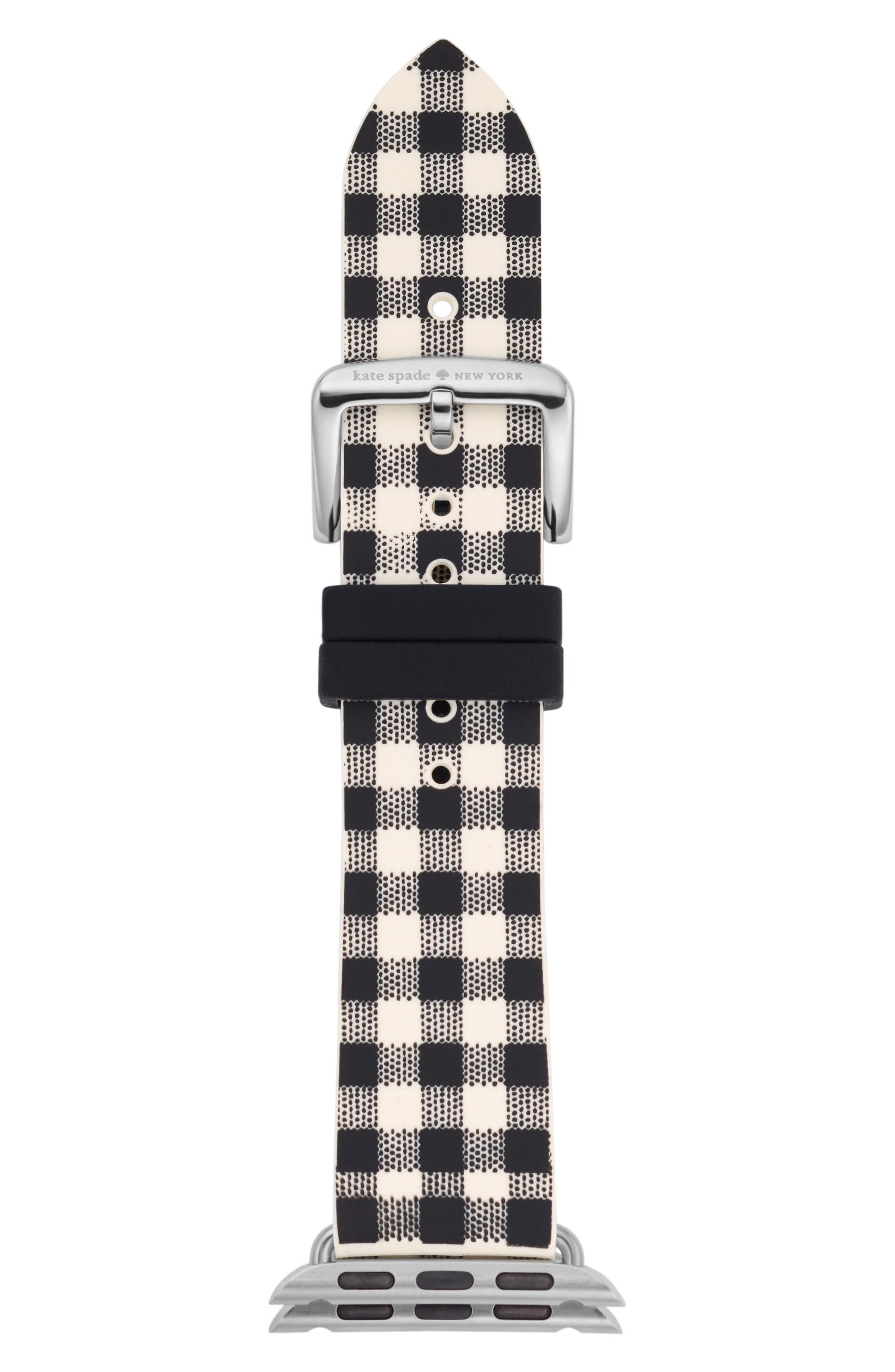 Apple Watch strap, 25mm,                             Main thumbnail 1, color,                             BLACK