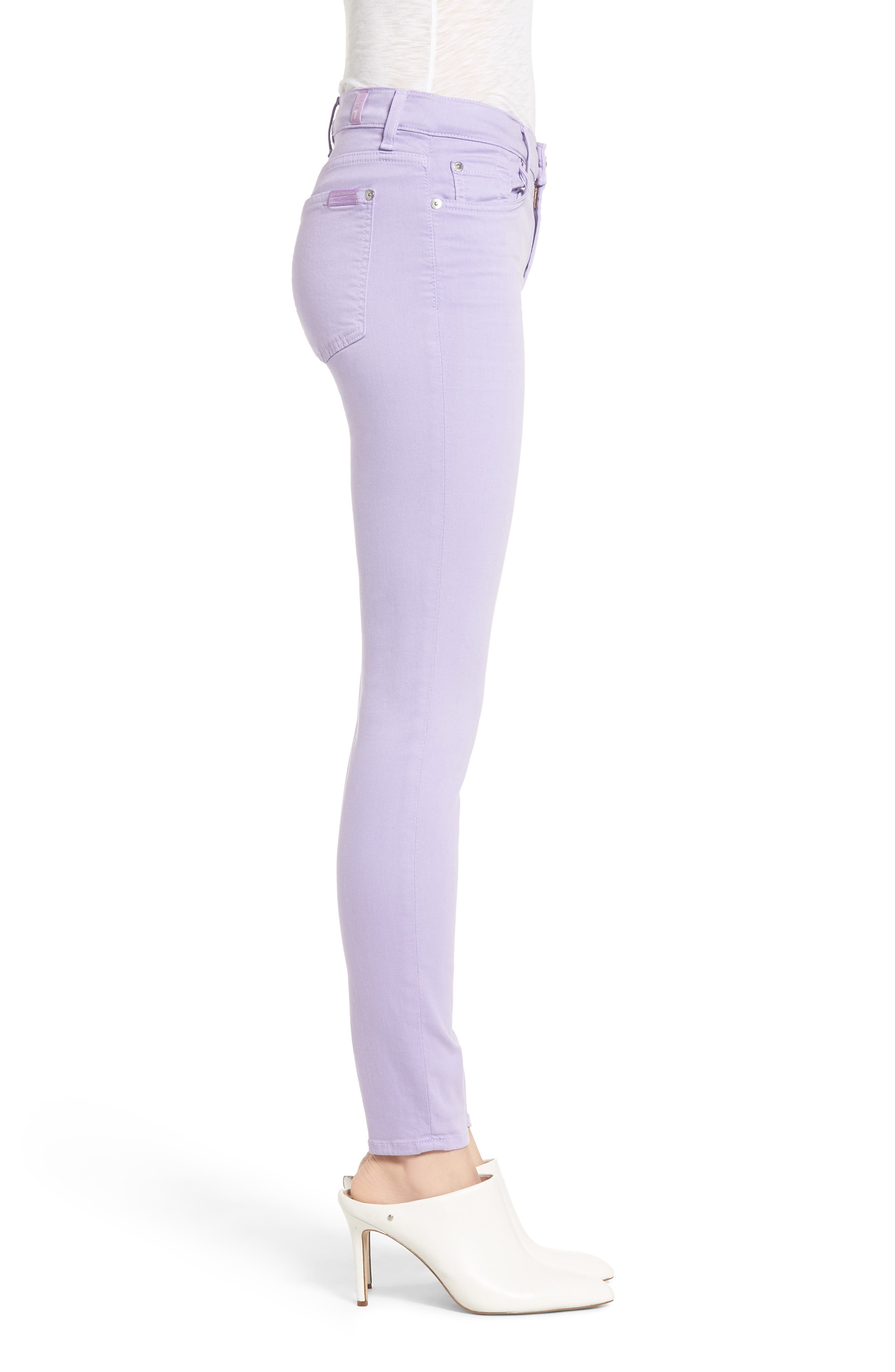 The Ankle Skinny Jeans,                             Alternate thumbnail 3, color,                             SOFT LILAC
