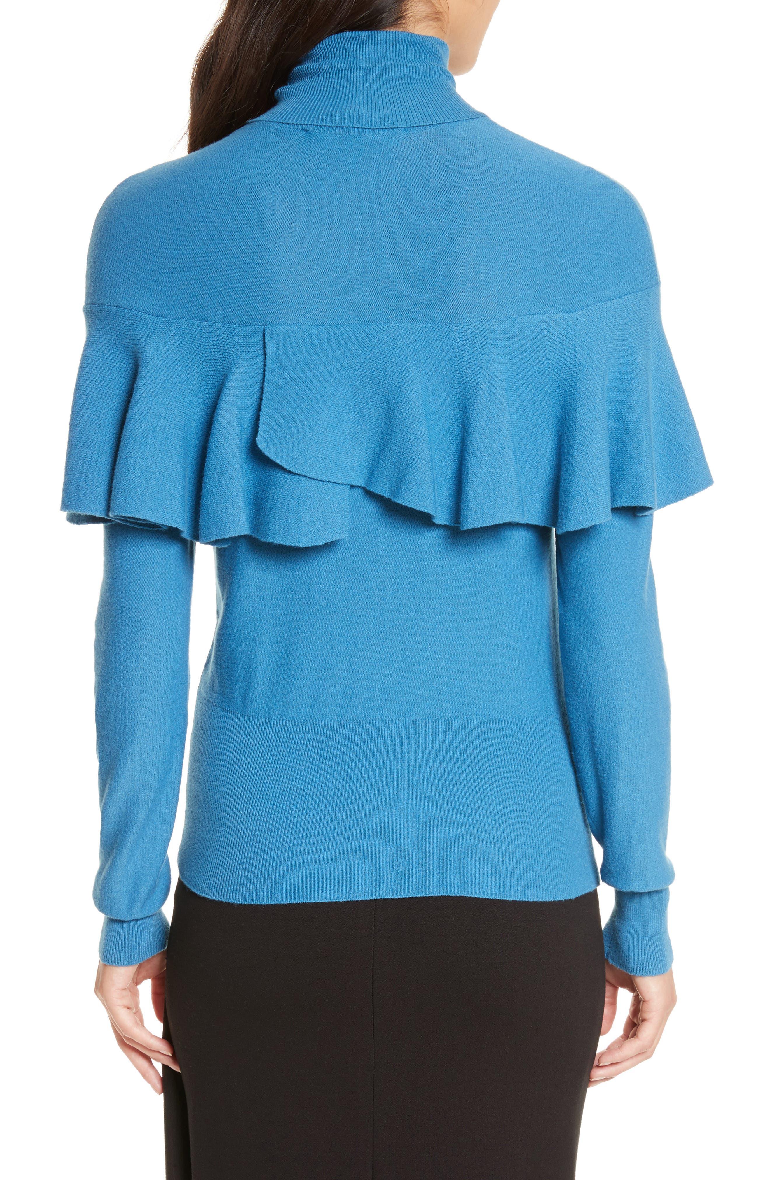 Flounced Turtleneck Sweater,                             Alternate thumbnail 2, color,                             487