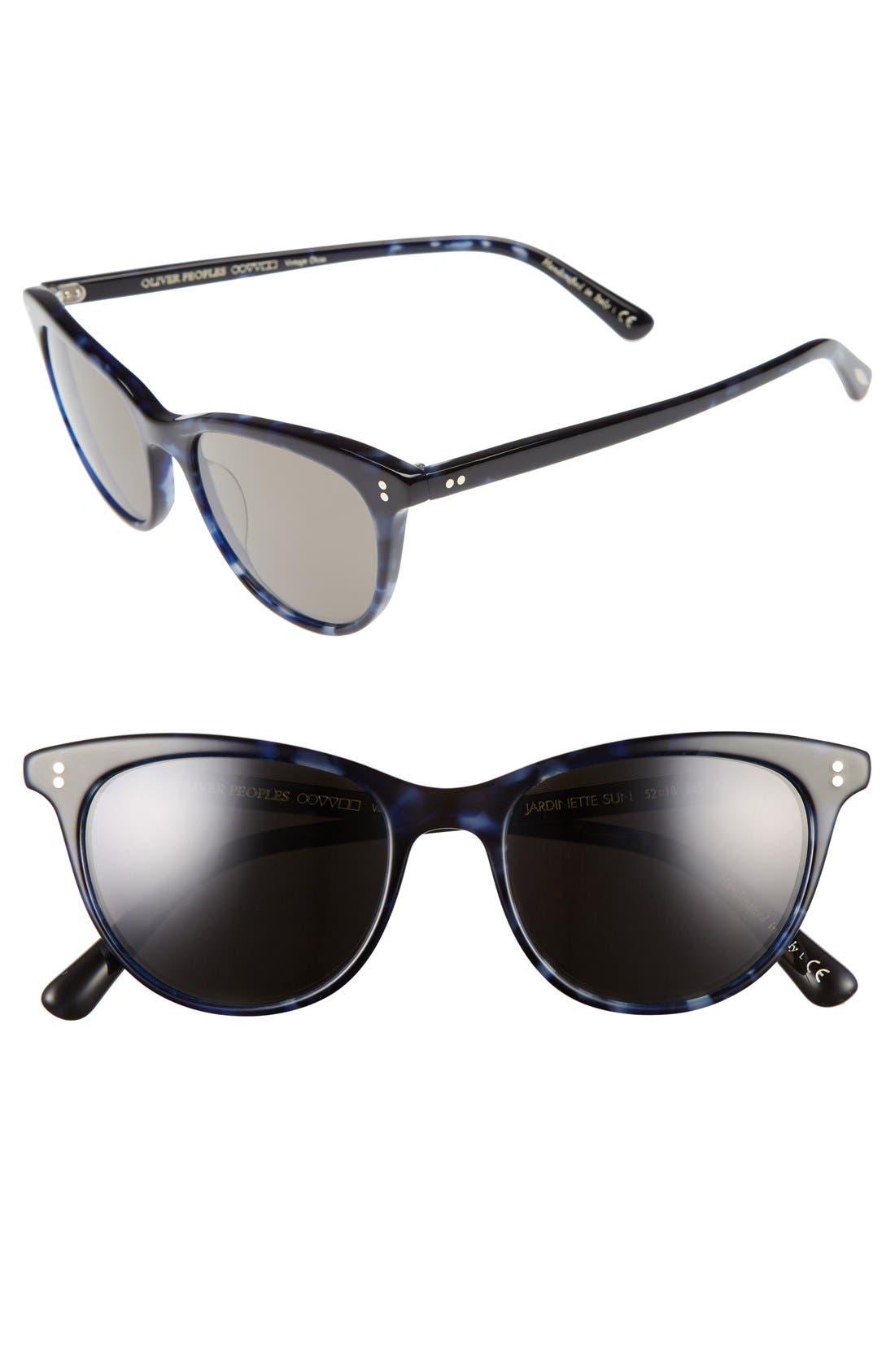 Jardinette 52mm Cat Eye Sunglasses,                         Main,                         color, BLUE