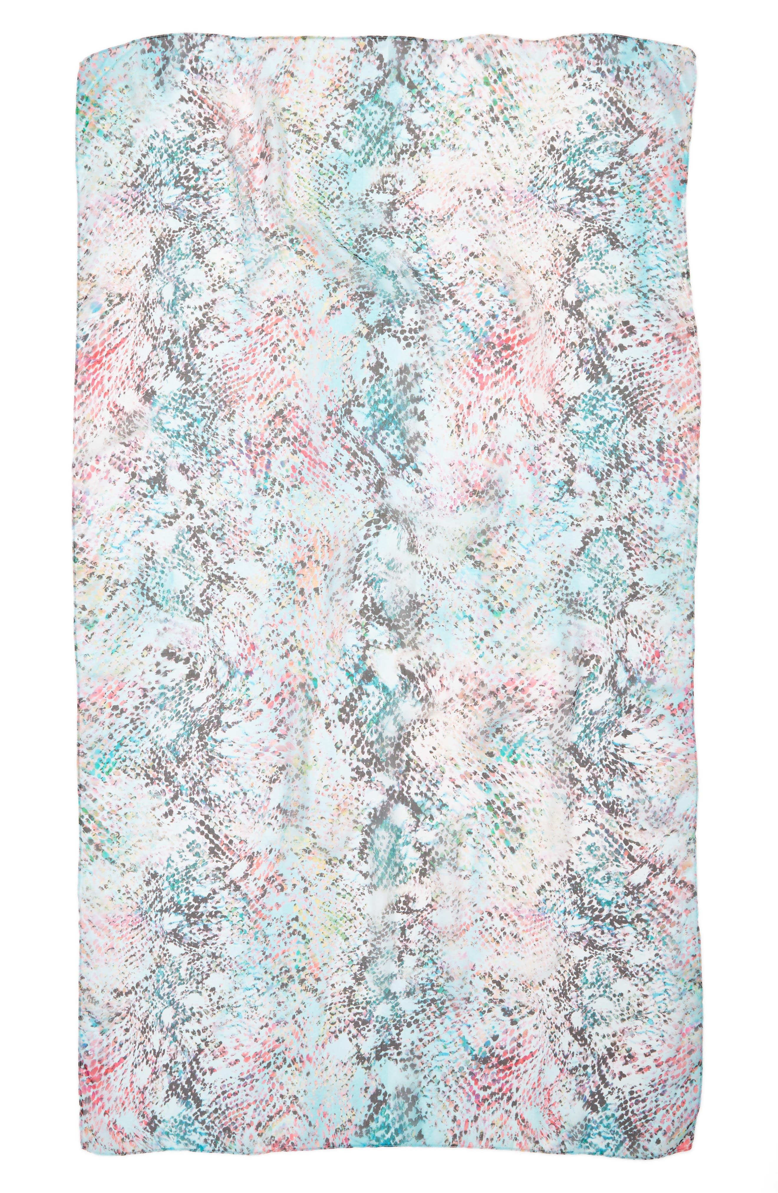 Silk Chiffon Oblong Scarf,                             Alternate thumbnail 46, color,