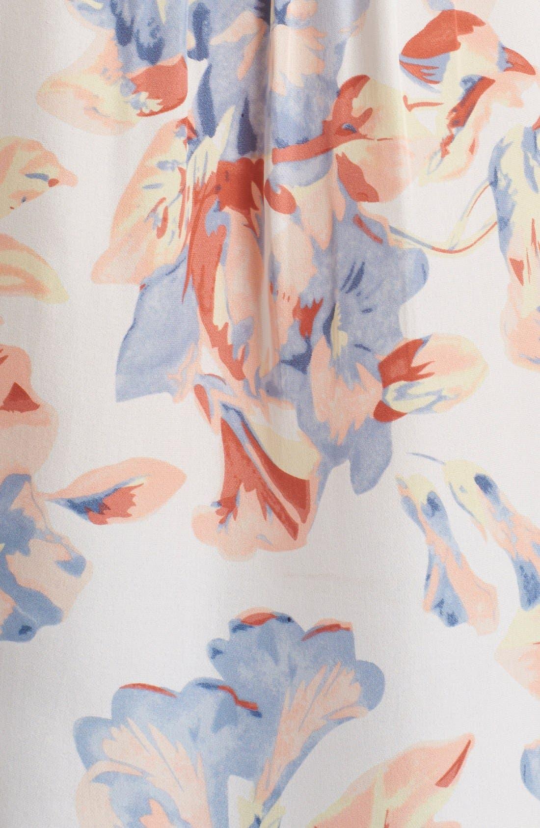 JOIE,                             'Annite' Floral Print Silk Top,                             Alternate thumbnail 2, color,                             901