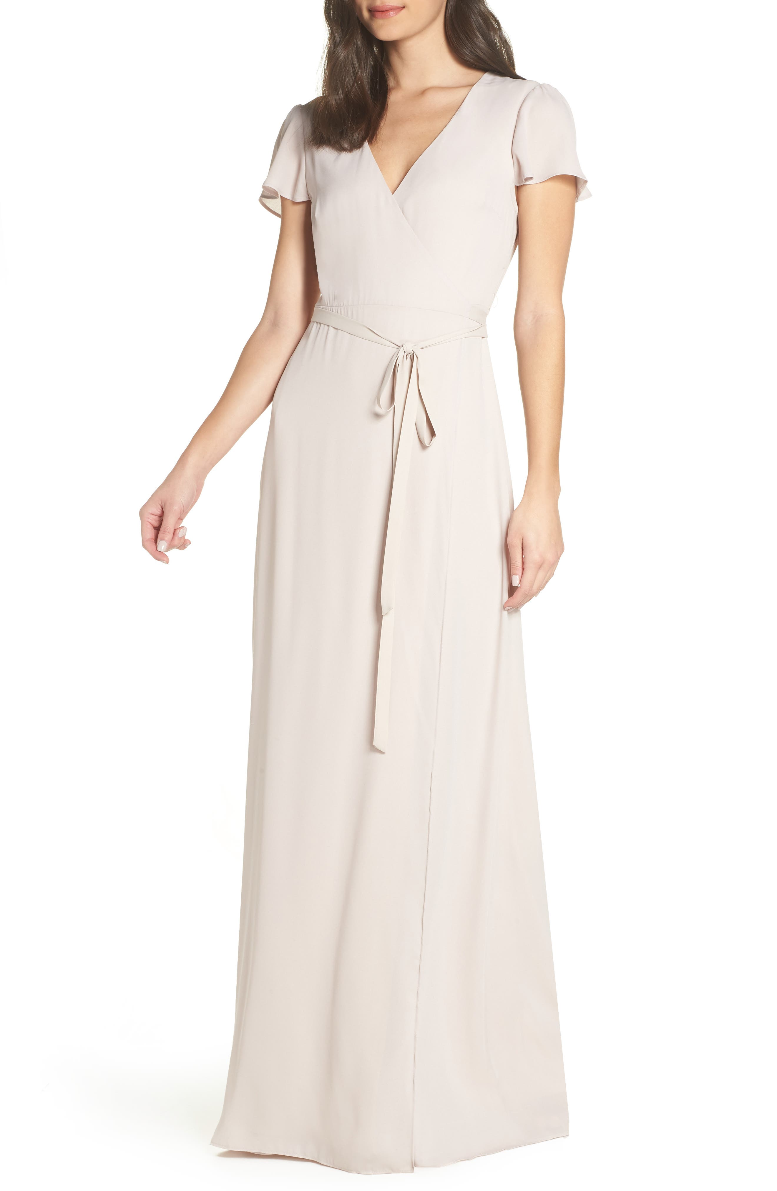Show Me Your Mumu Noelle Wrap Dress, Beige