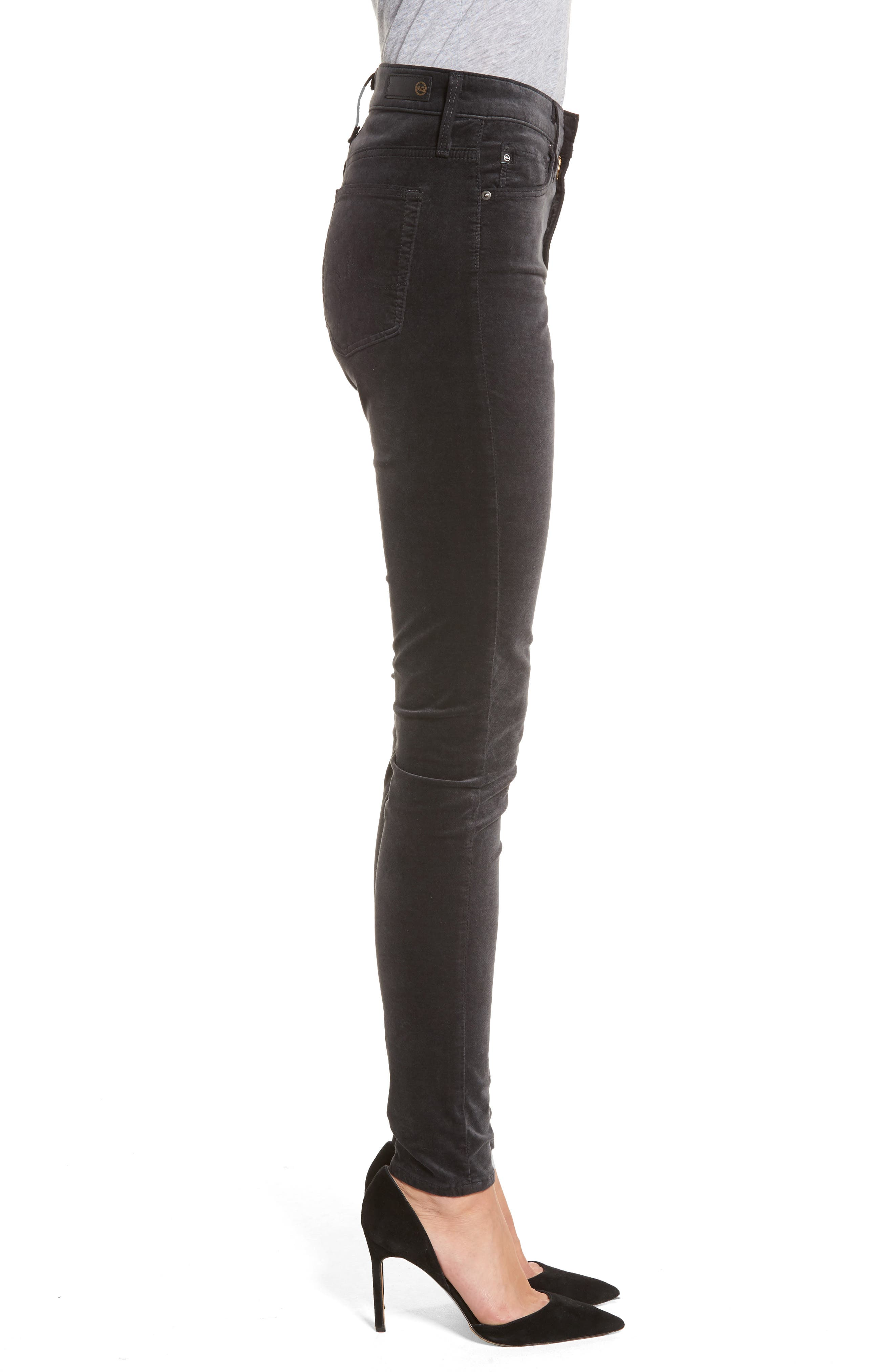 The Farrah High Waist Velvet Jeans,                             Alternate thumbnail 3, color,                             023