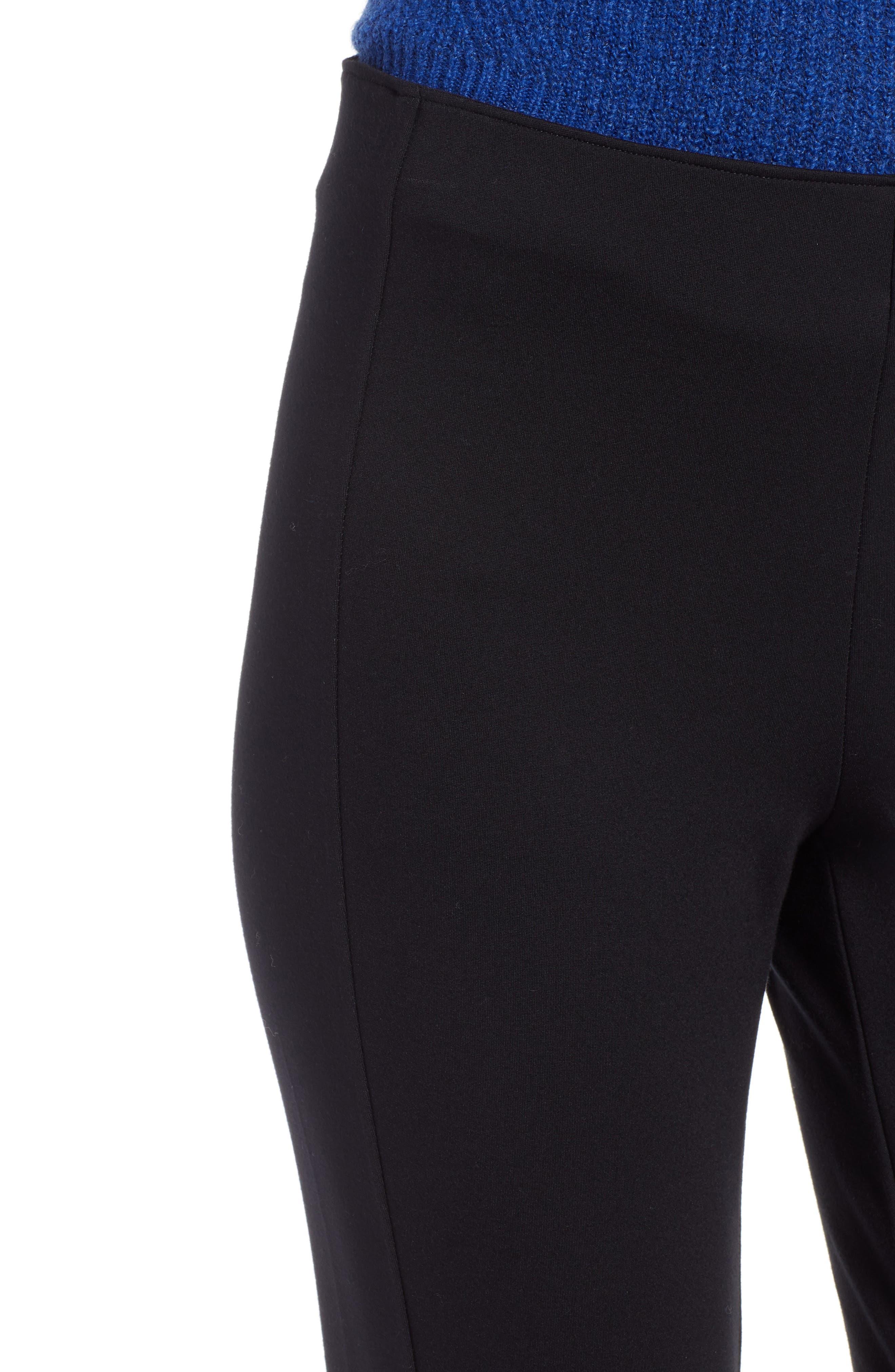 Skinny Ponte Knit Pants,                             Alternate thumbnail 4, color,                             001