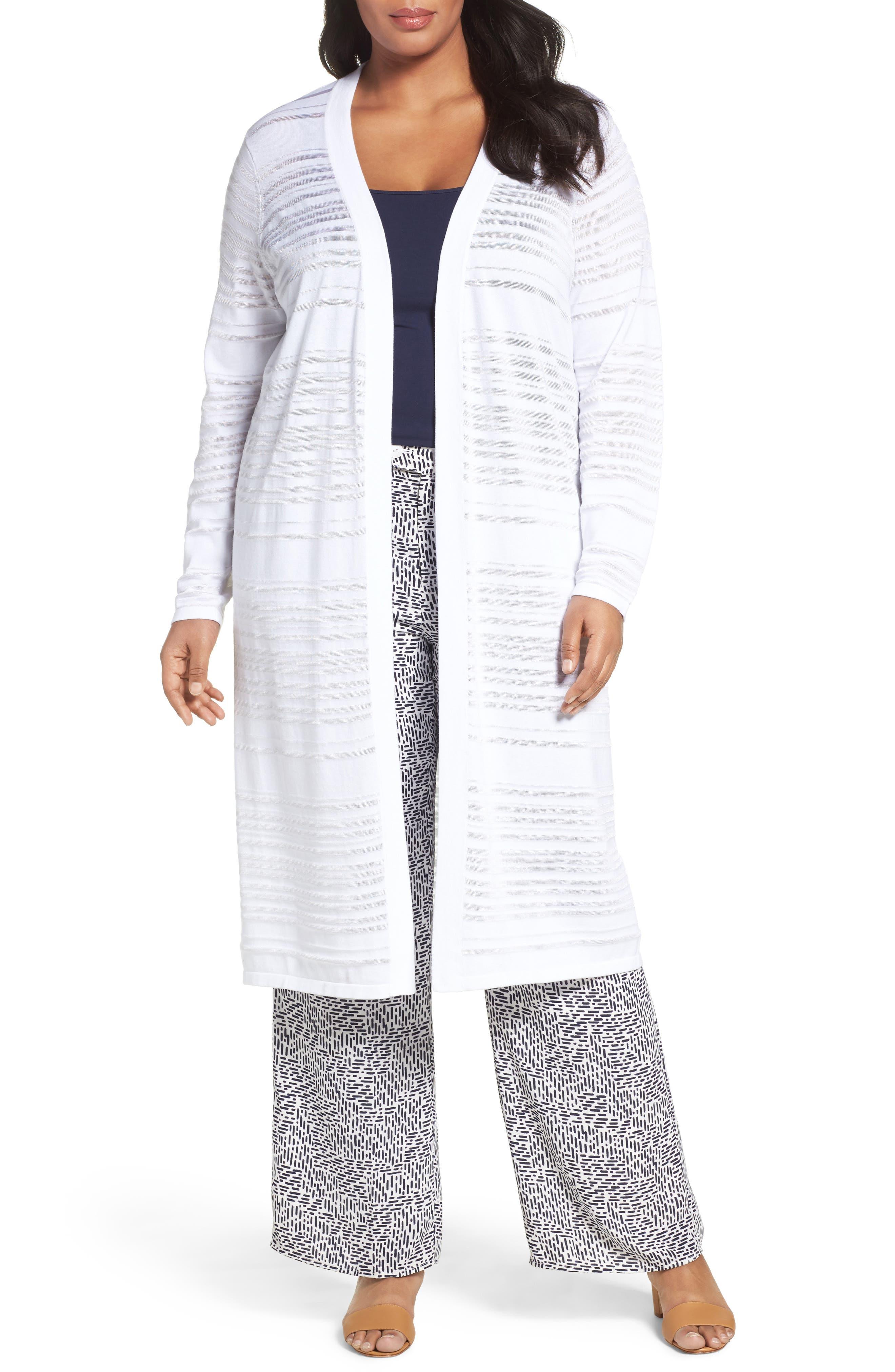 Shadow Stripe Cotton Blend Cardigan,                         Main,                         color,