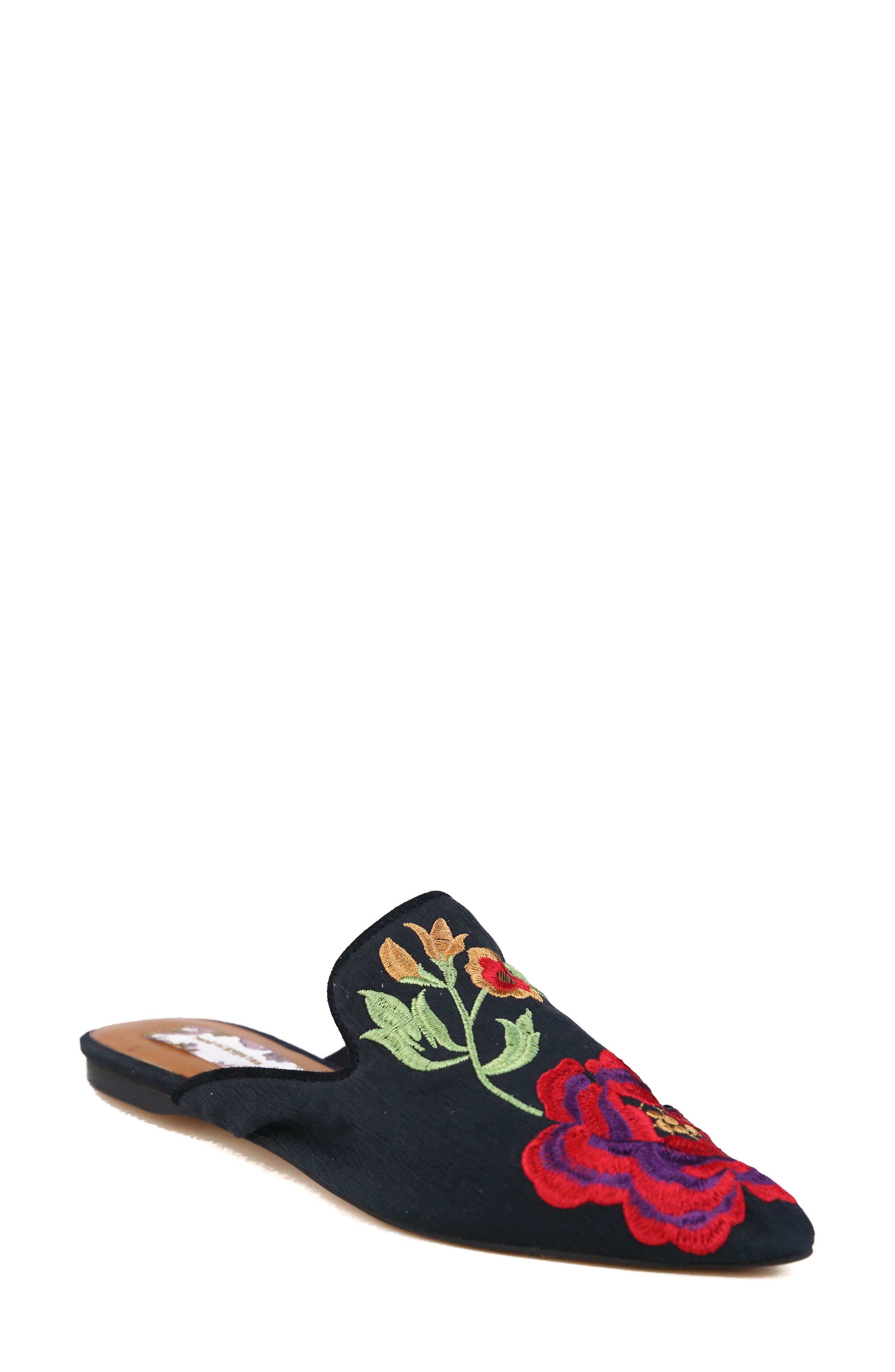 BAND OF GYPSIES,                             Landslide Embroidered Mule Flat,                             Main thumbnail 1, color,                             001