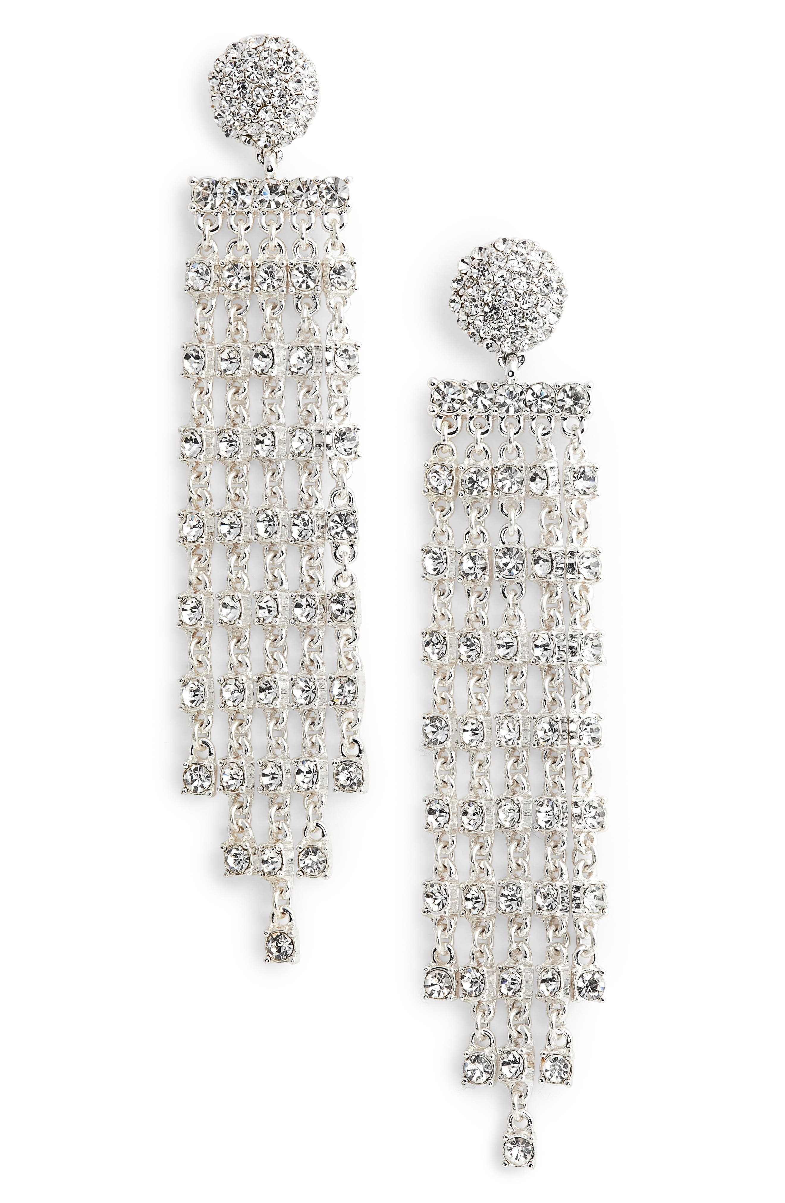 Prima Donna Crystal Drop Earrings,                         Main,                         color, 040