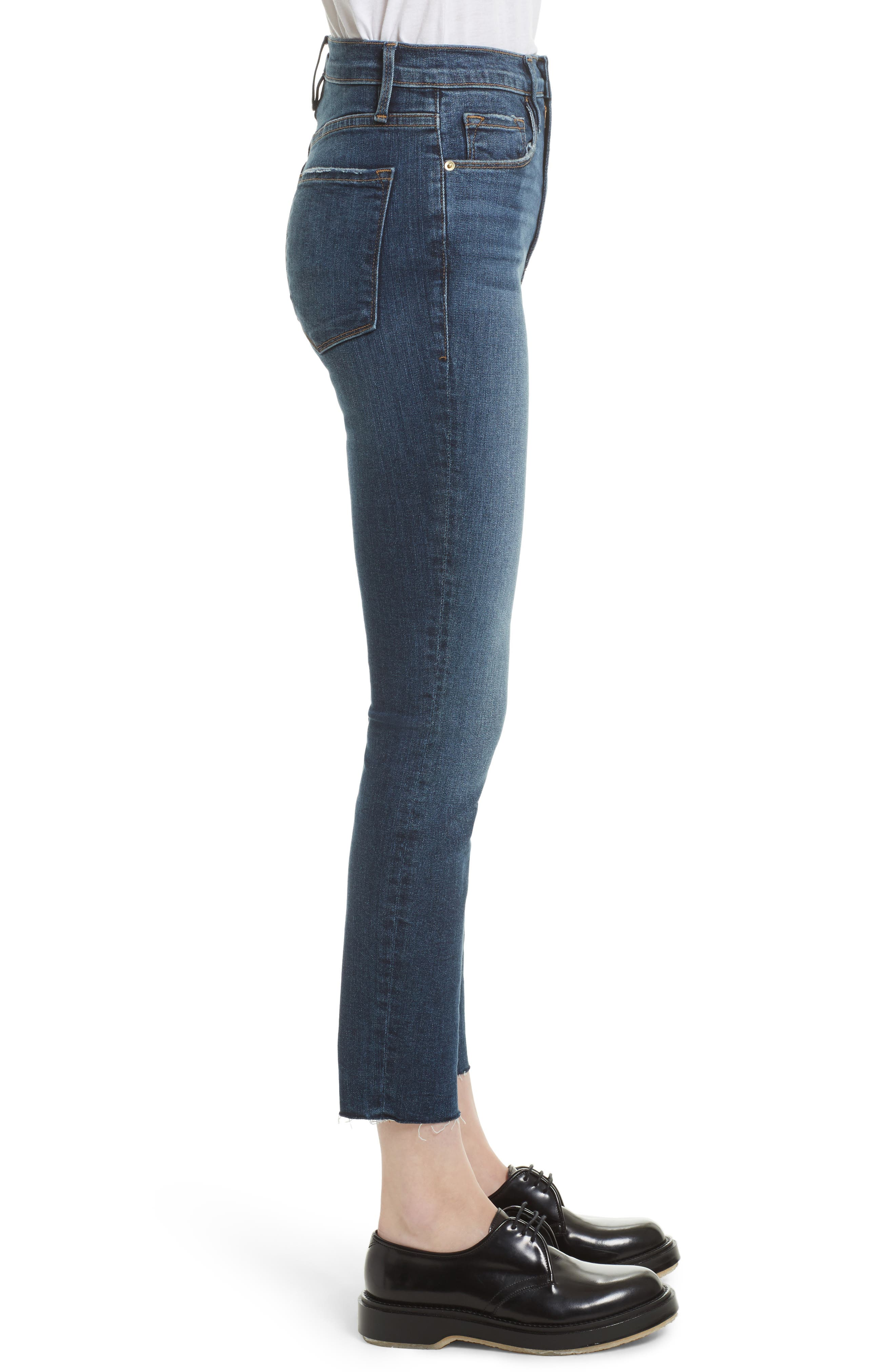 Le High Ankle Skinny Jeans,                             Alternate thumbnail 3, color,