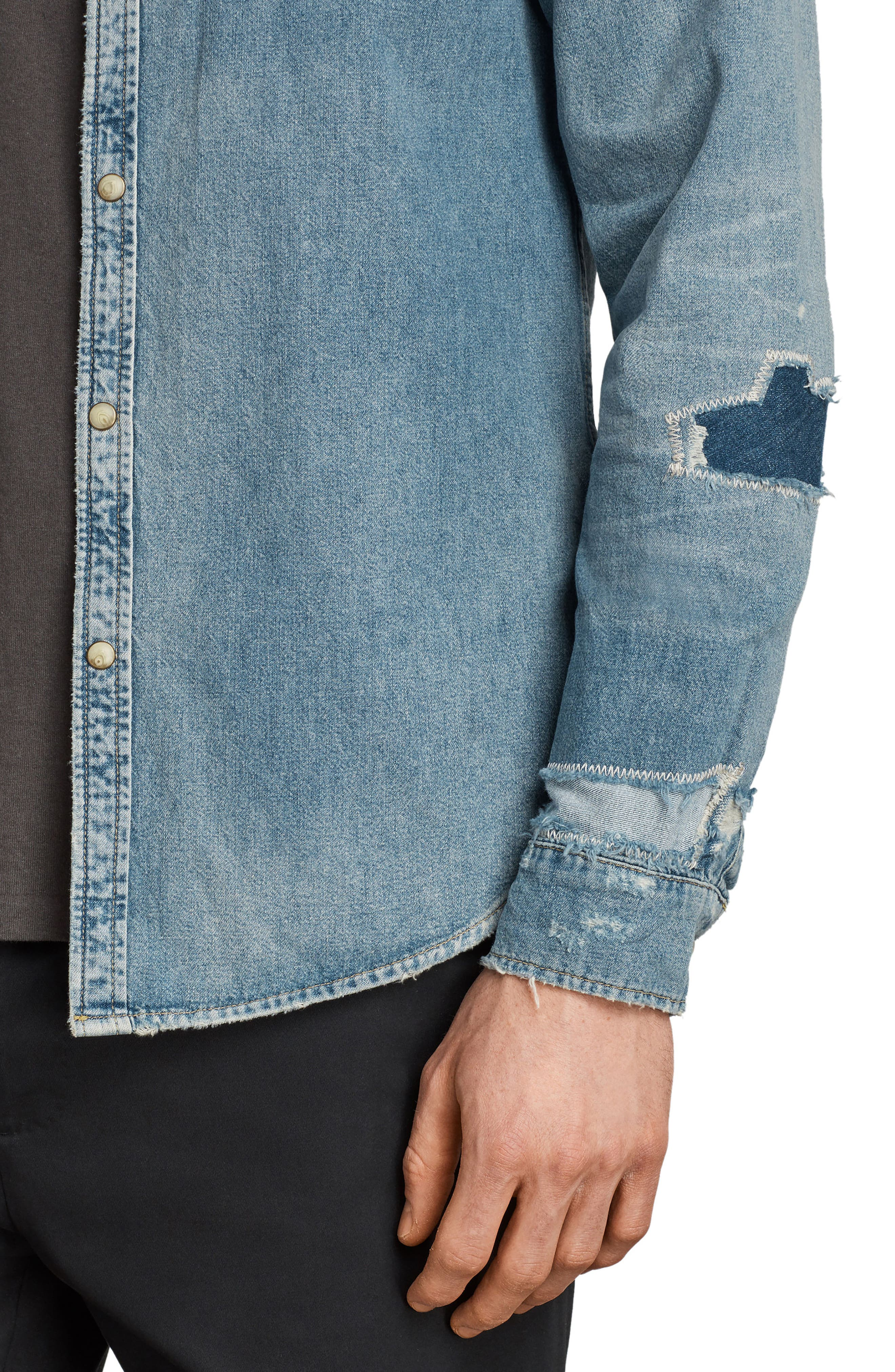 Ilex Slim Fit Sport Shirt,                             Alternate thumbnail 4, color,                             460