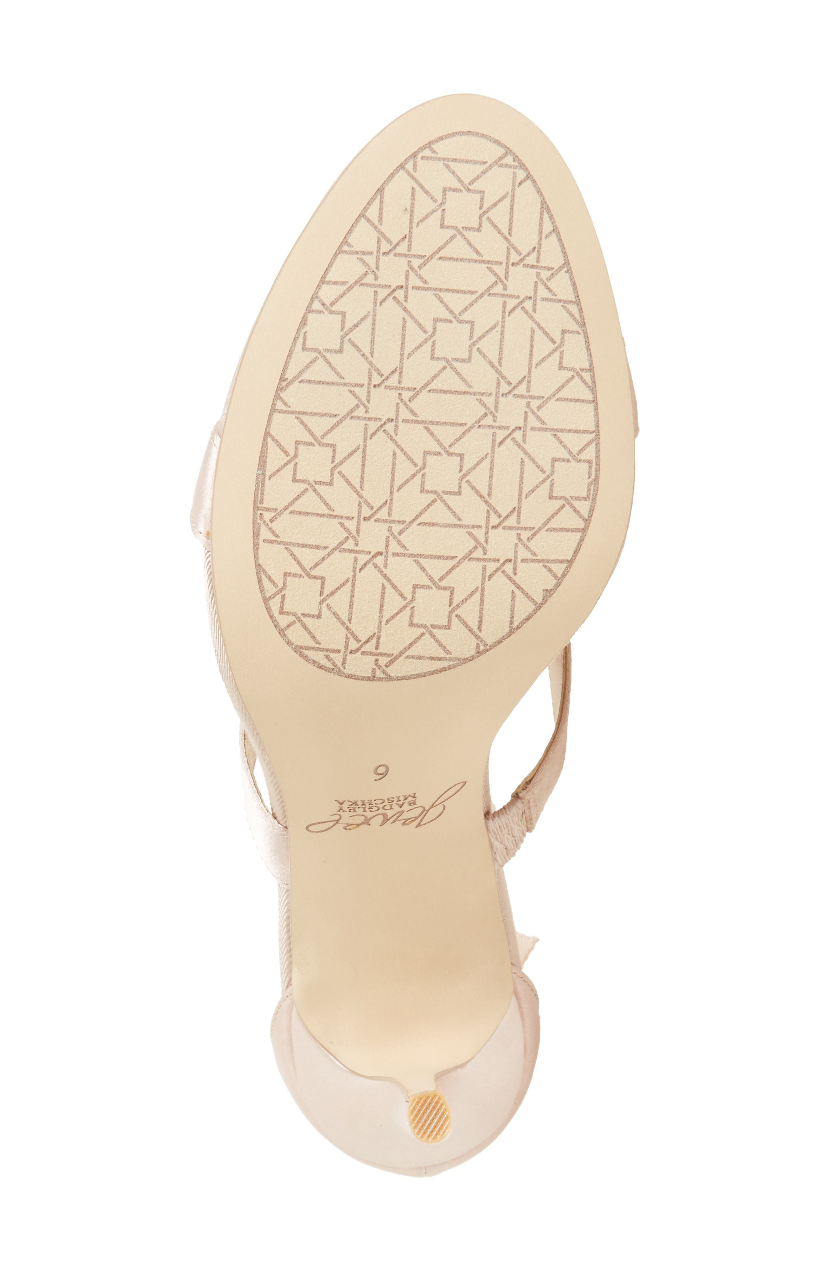 Henderson Embellished Bow Sandal,                             Alternate thumbnail 4, color,                             CHAMPAGNE SATIN