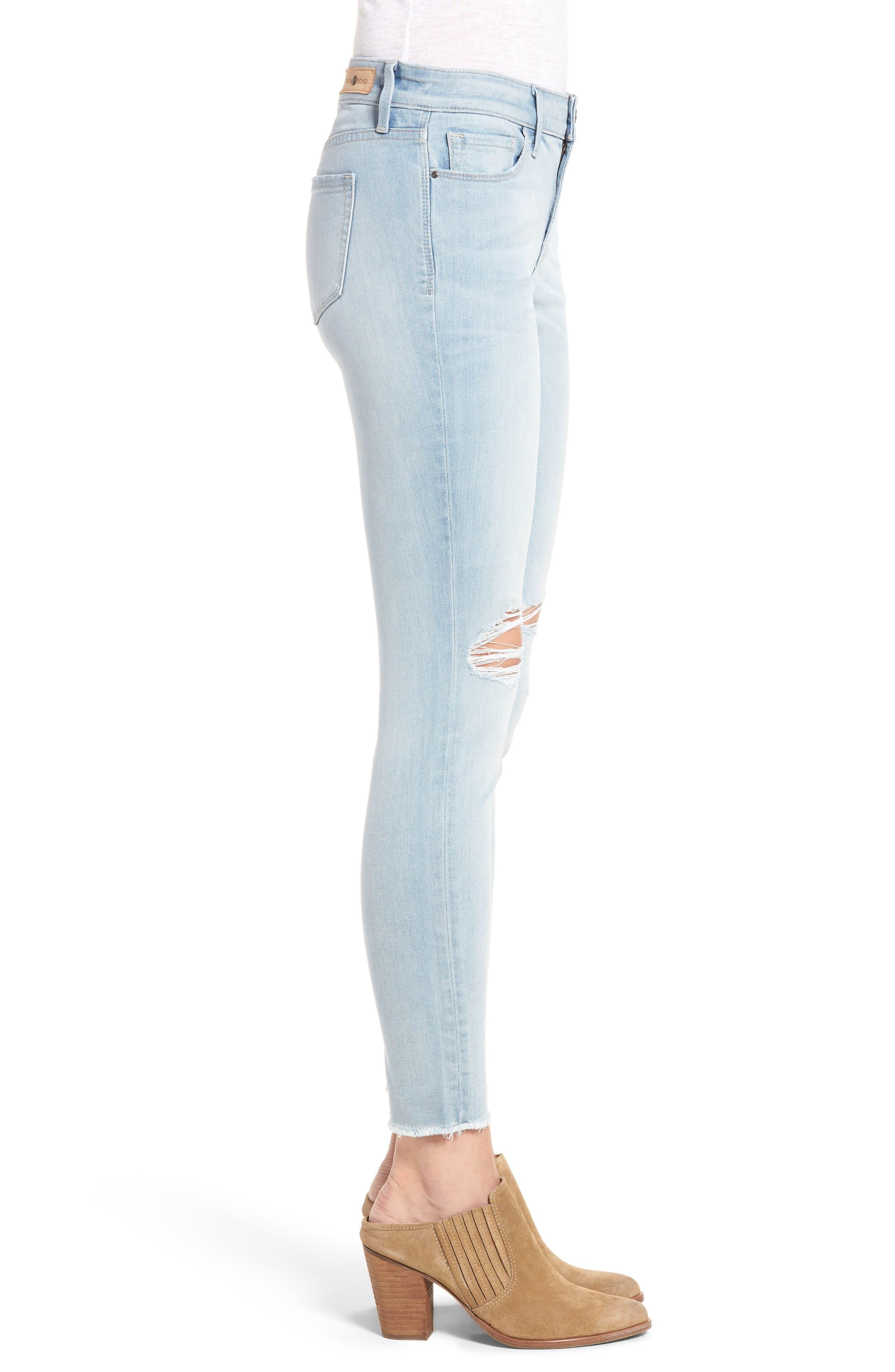 Ankle Skinny Jeans,                             Alternate thumbnail 3, color,                             400