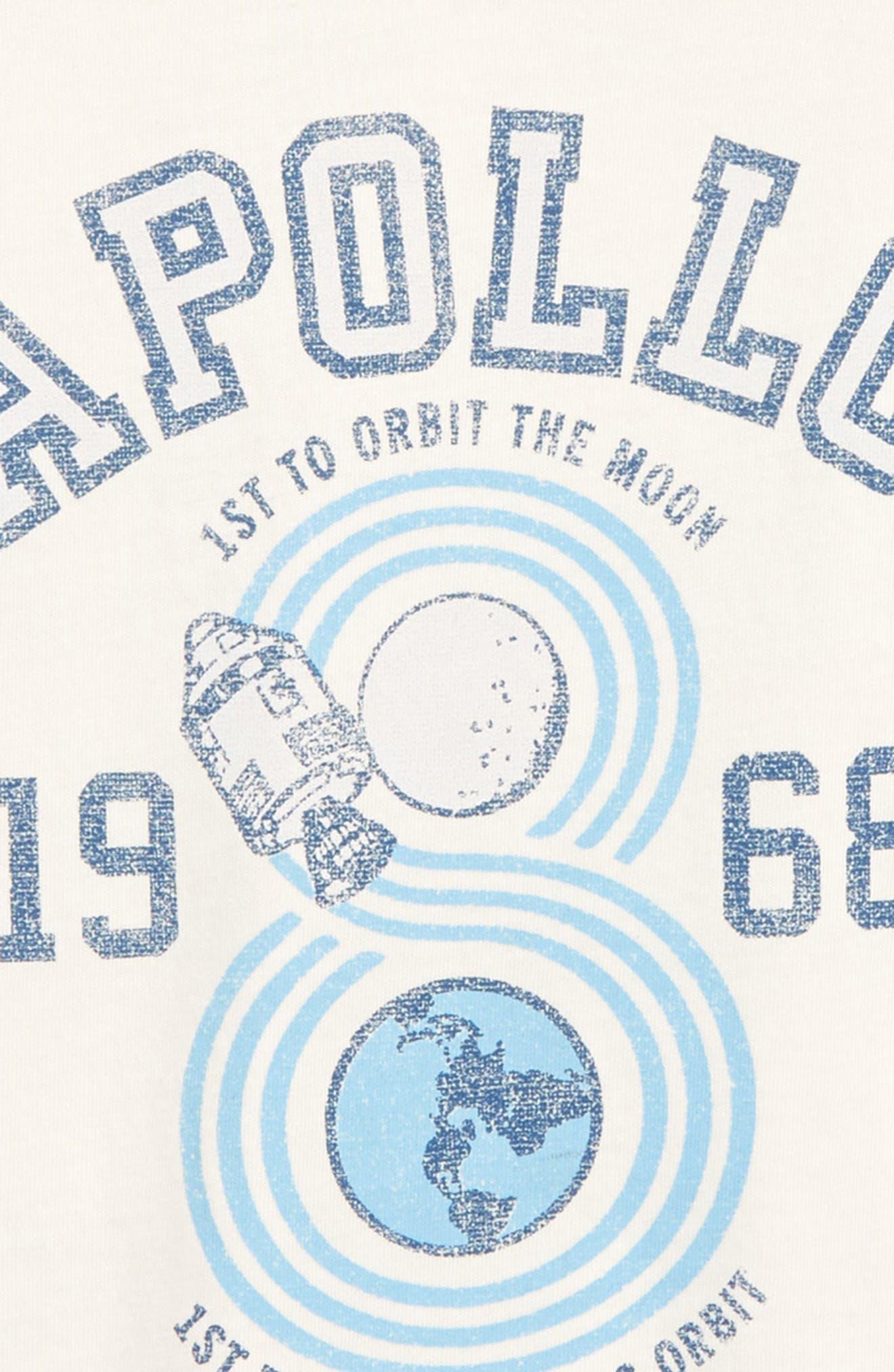 Apollo Graphic T-Shirt,                             Alternate thumbnail 3, color,                             WHITE