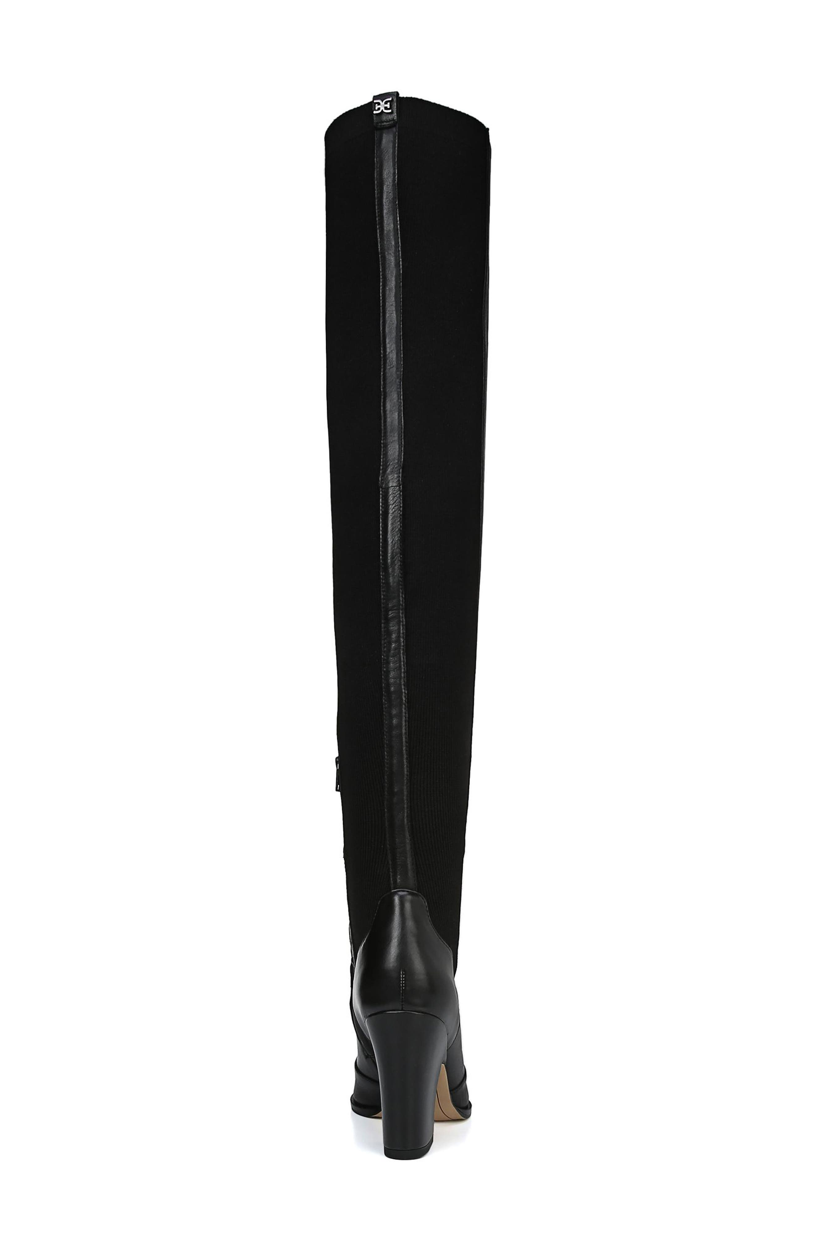 Natasha Over the Knee Boot,                             Alternate thumbnail 7, color,                             BLACK LEATHER