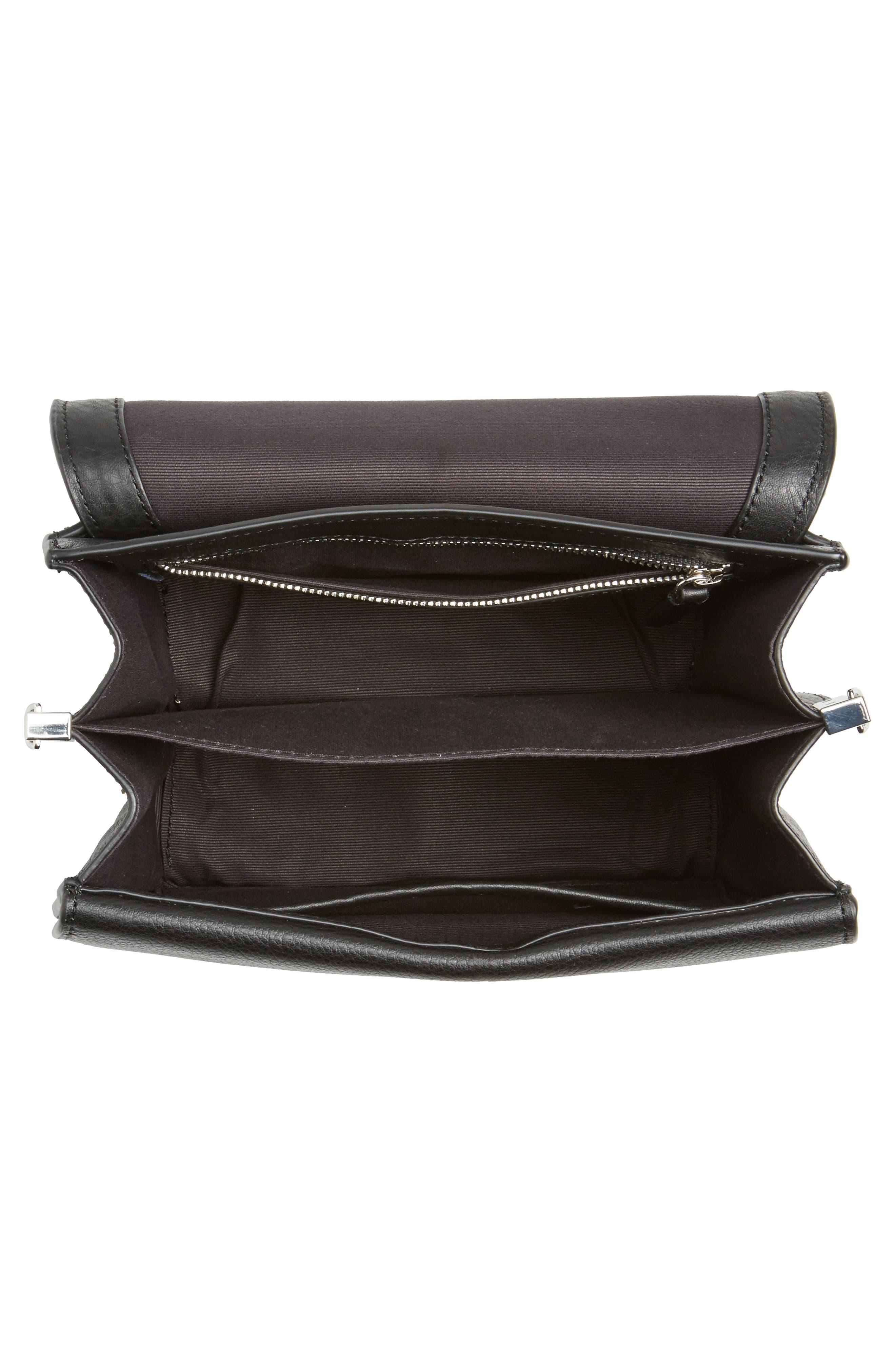Landon Leather Crossbody Saddle Bag,                             Alternate thumbnail 13, color,