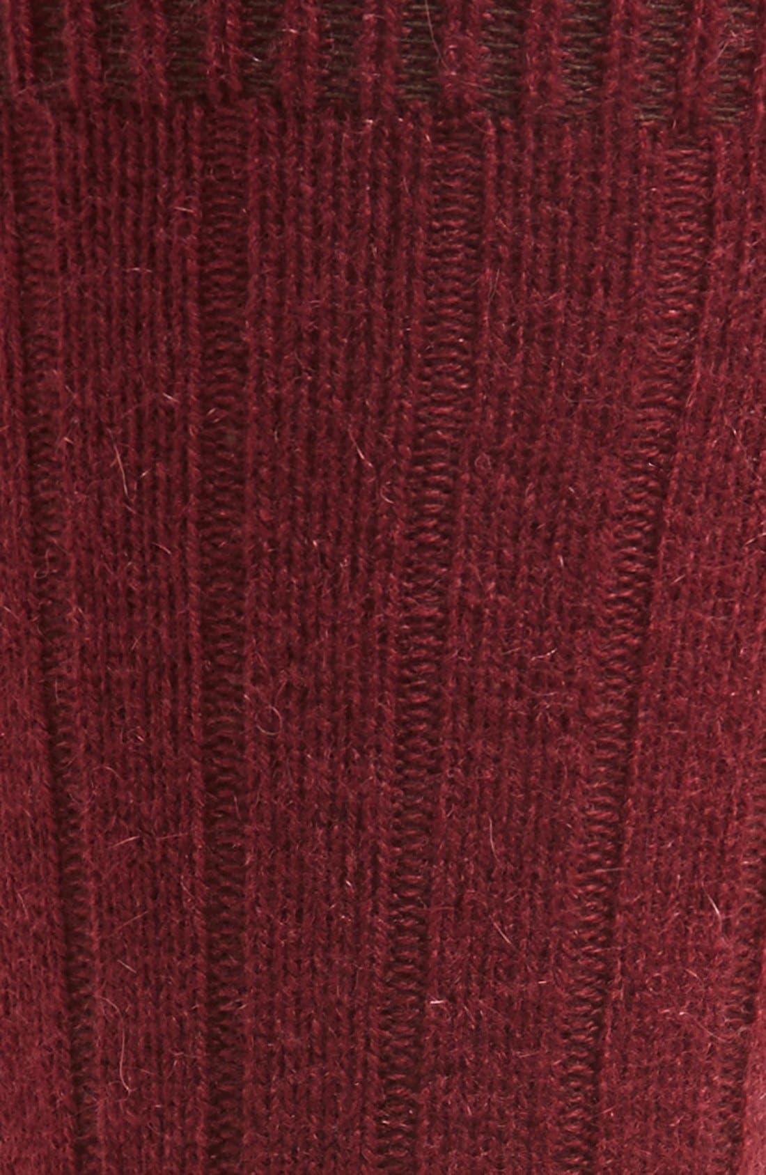 'Waddington' Cashmere Blend Mid Calf Socks,                             Alternate thumbnail 22, color,