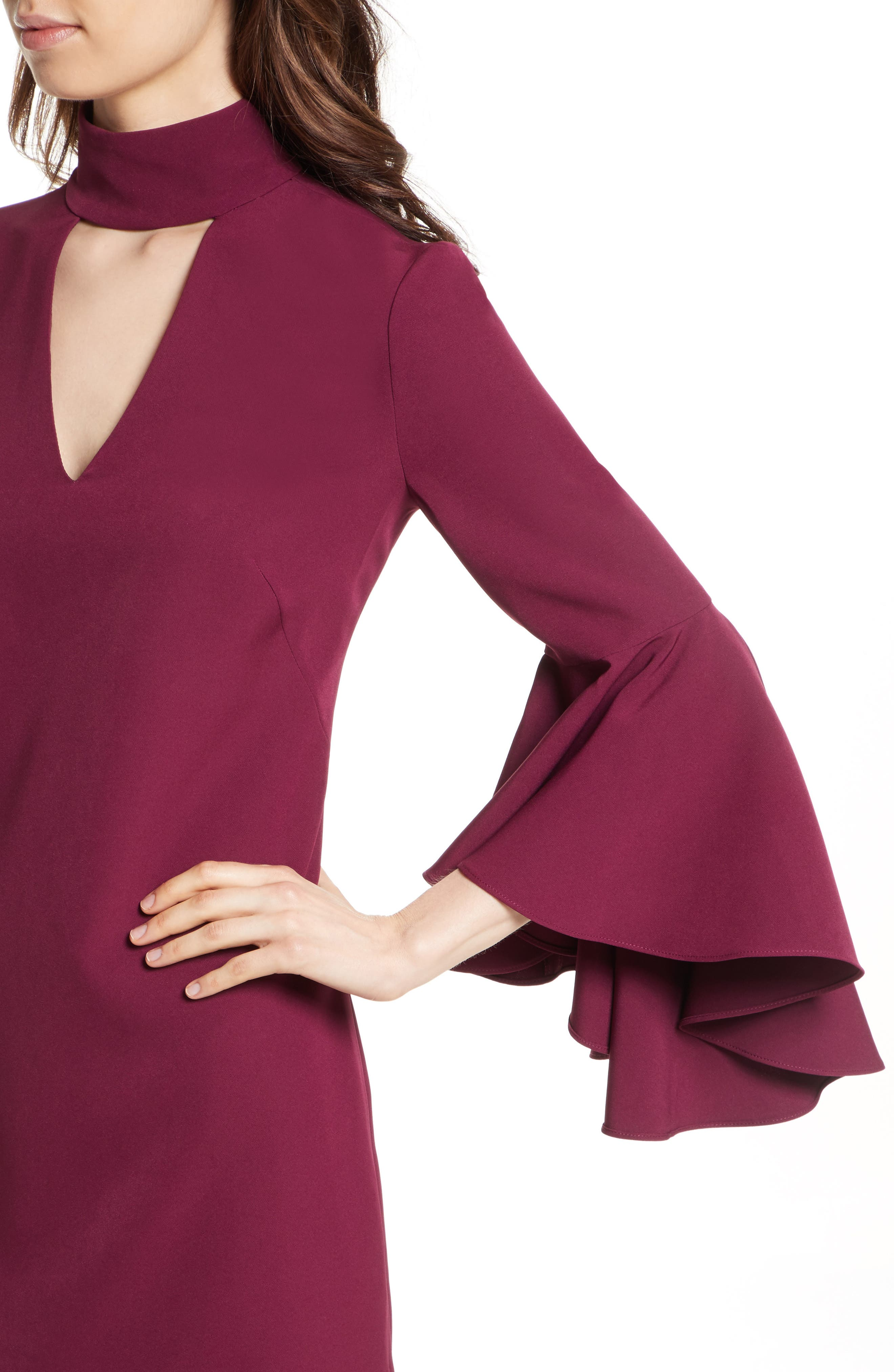 Andrea Italian Cady A-Line Dress,                             Alternate thumbnail 4, color,                             931