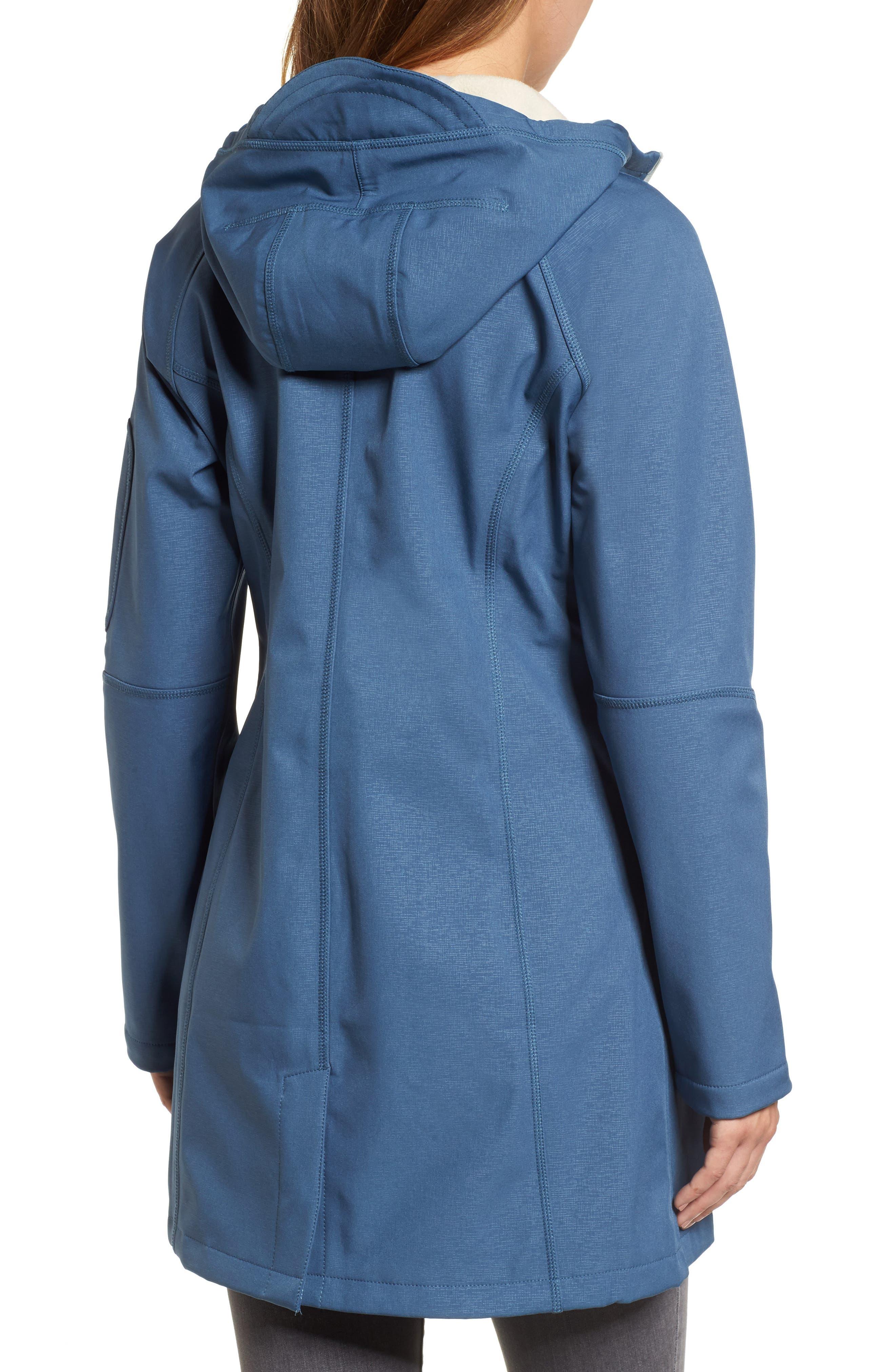 Regular Fit Hooded Raincoat,                             Alternate thumbnail 2, color,                             400