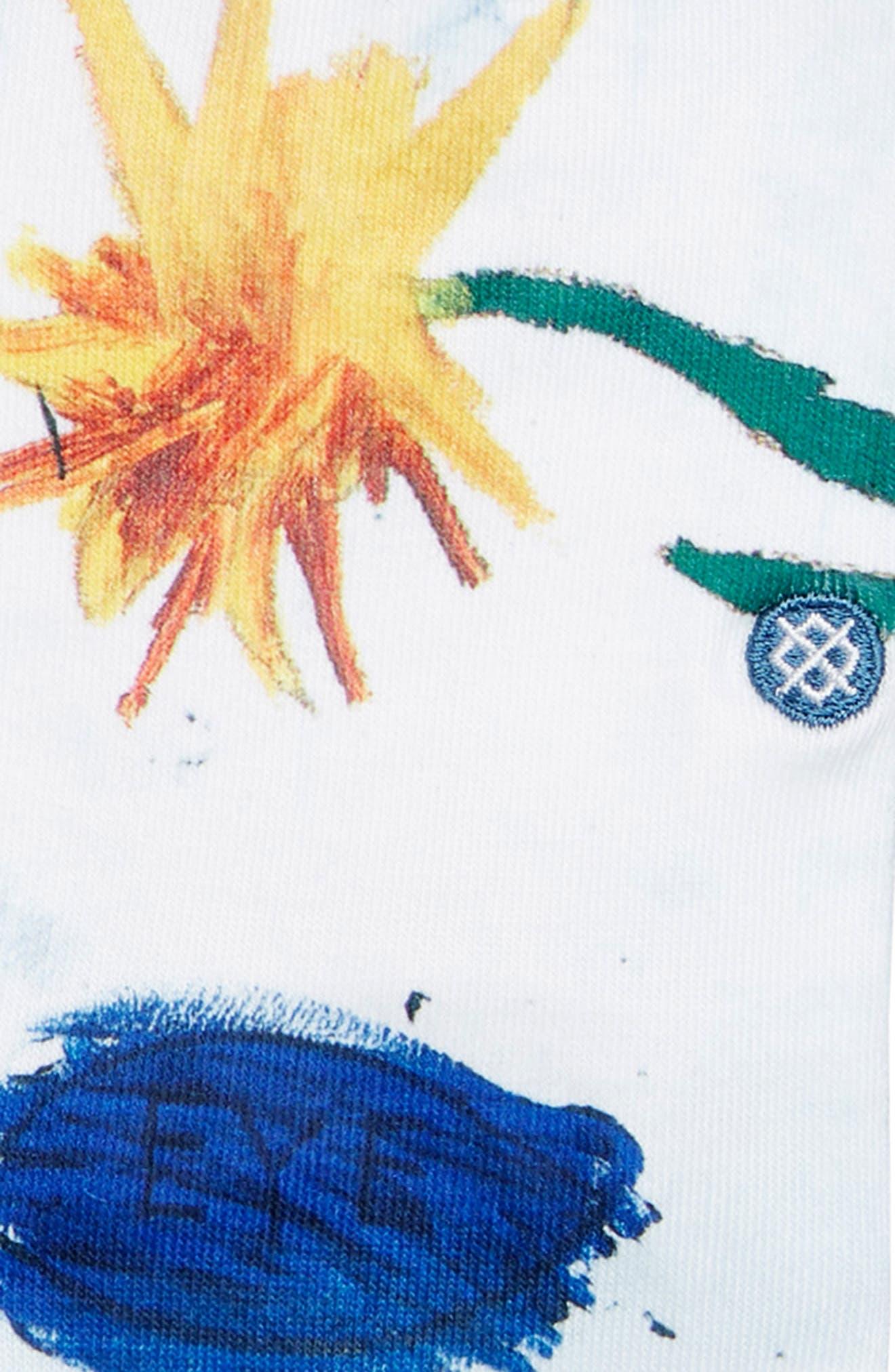 Open Bloom Socks,                             Alternate thumbnail 2, color,                             BLUE