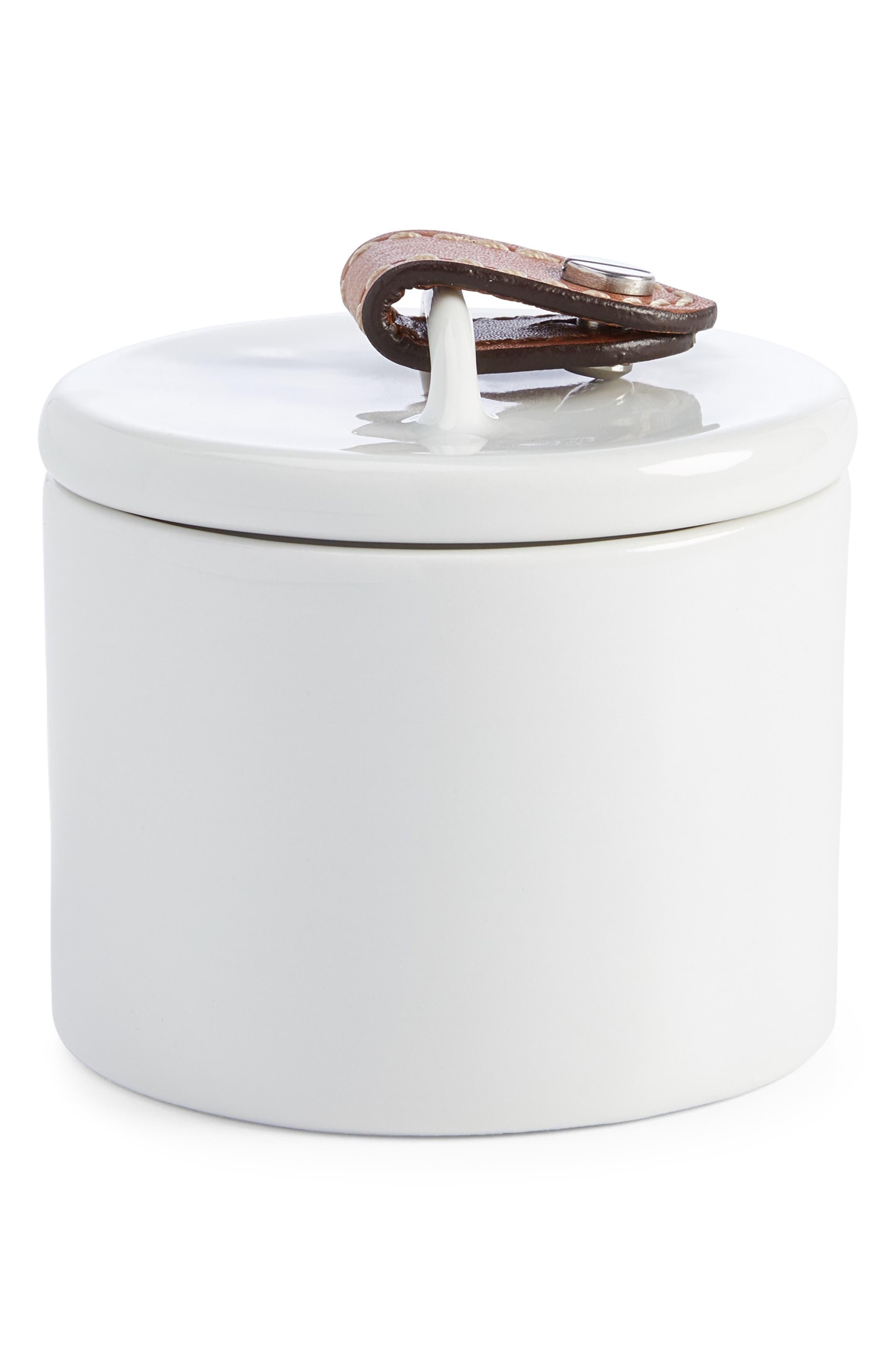 Wyatt Porcelain Sugar Bowl, Main, color, SADDLE/ WHITE