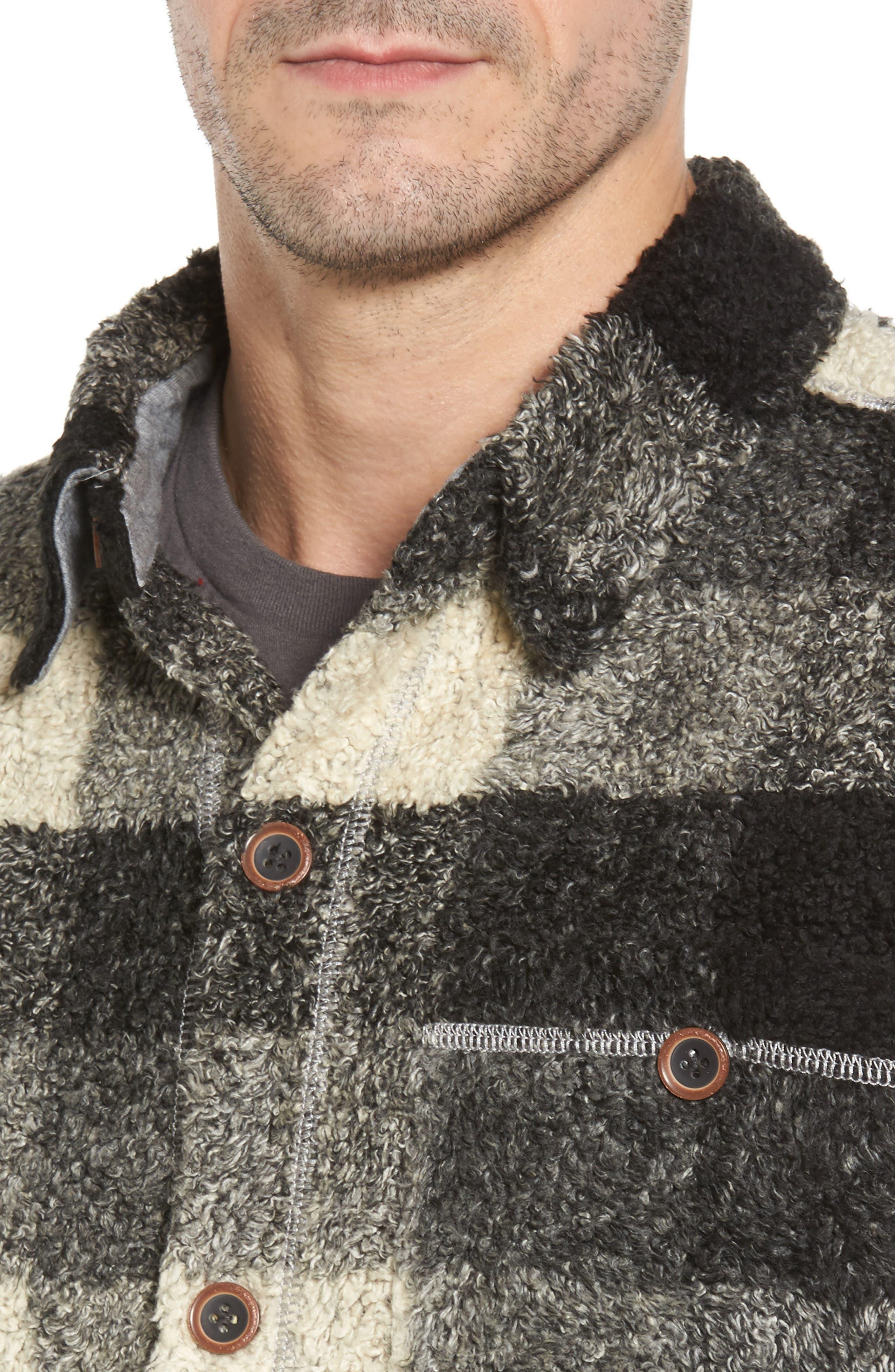 Textured Buffalo Check Shirt Jacket,                             Alternate thumbnail 4, color,                             020
